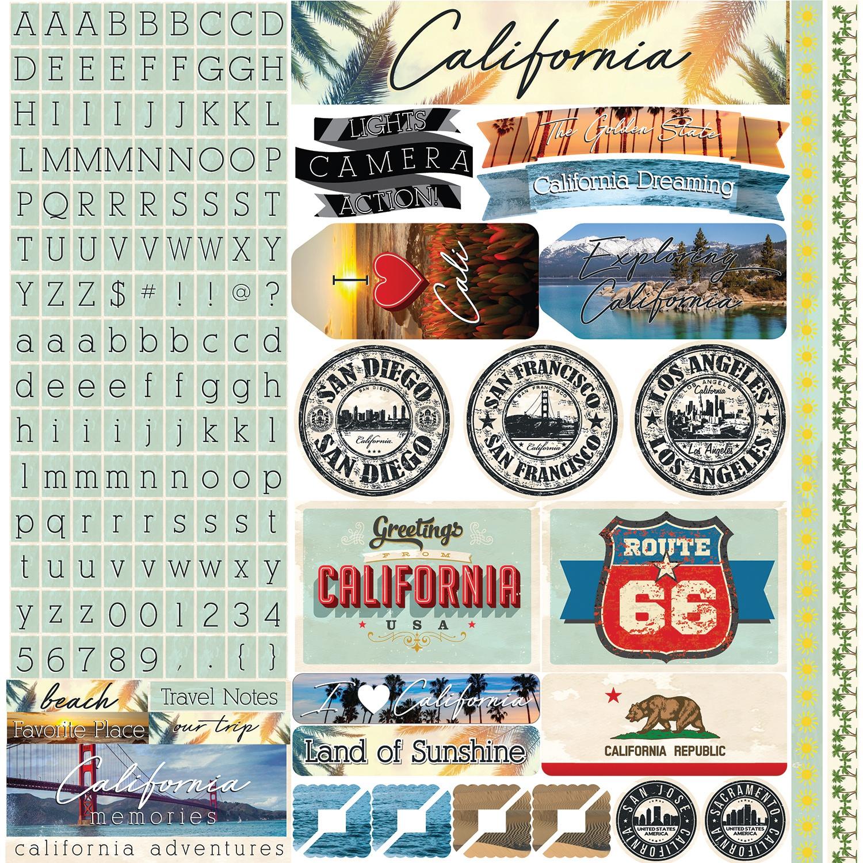 California Sticker 12X12-