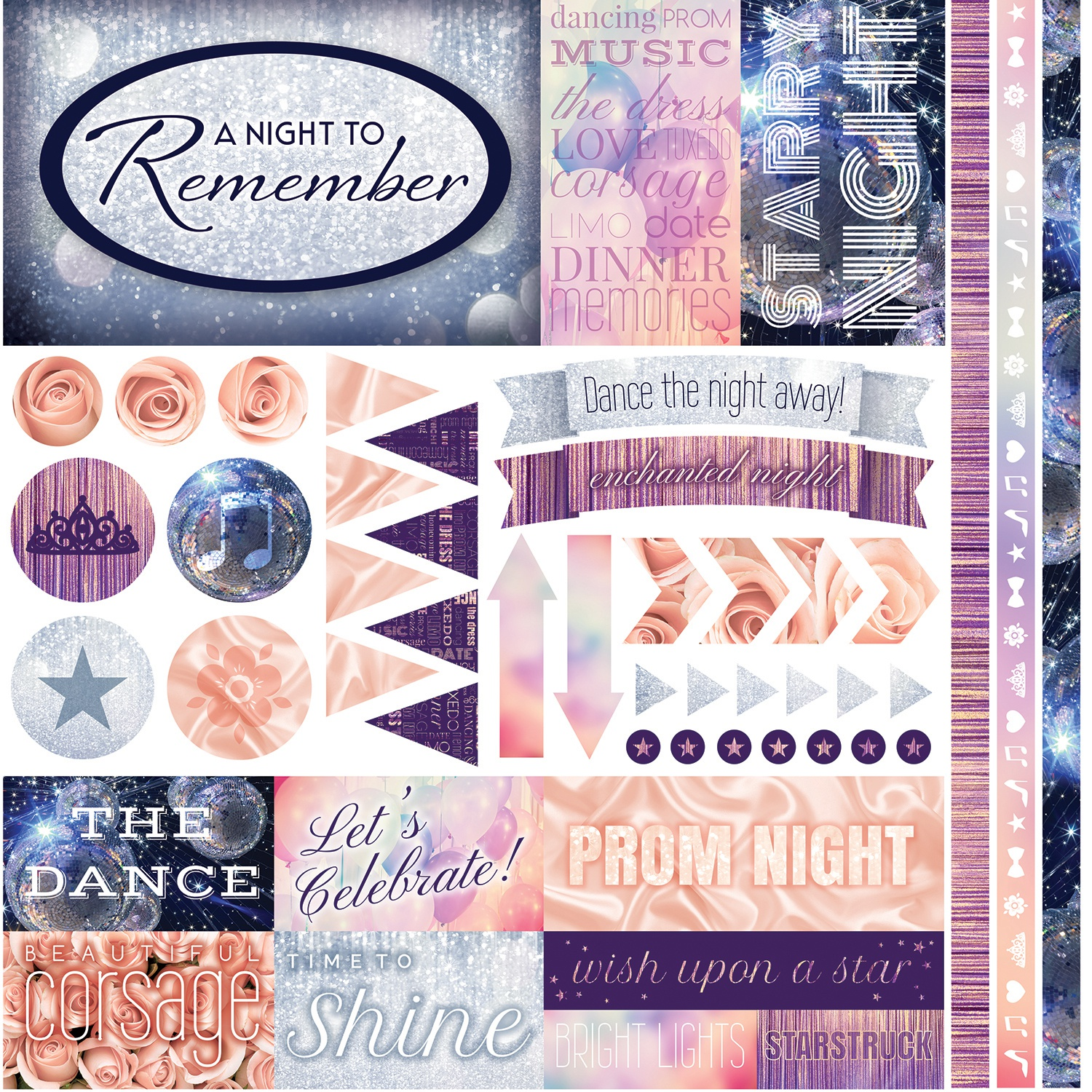 A Night To Remember Sticker 12X12-