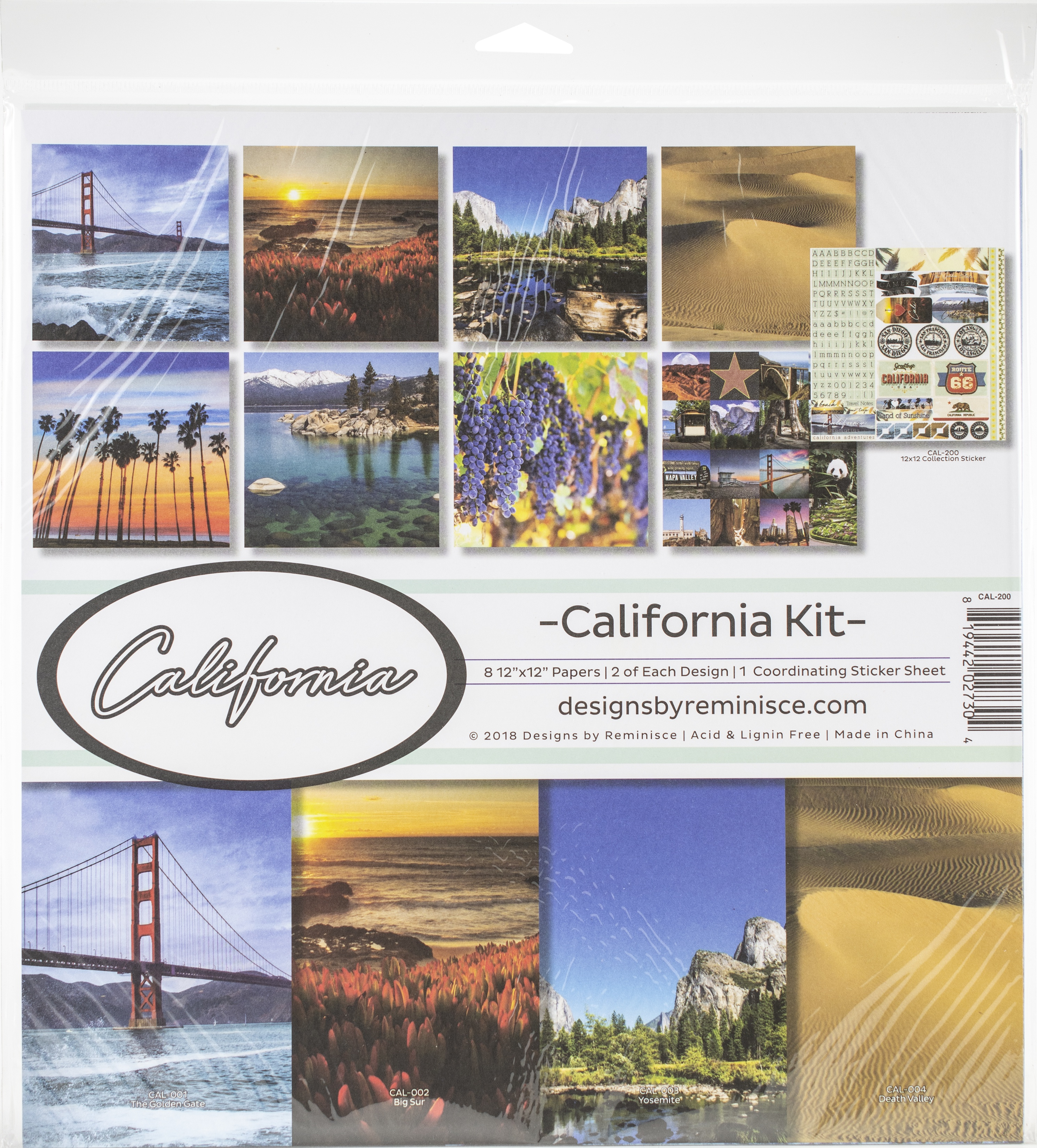 Reminisce Collection Kit 12X12 - California
