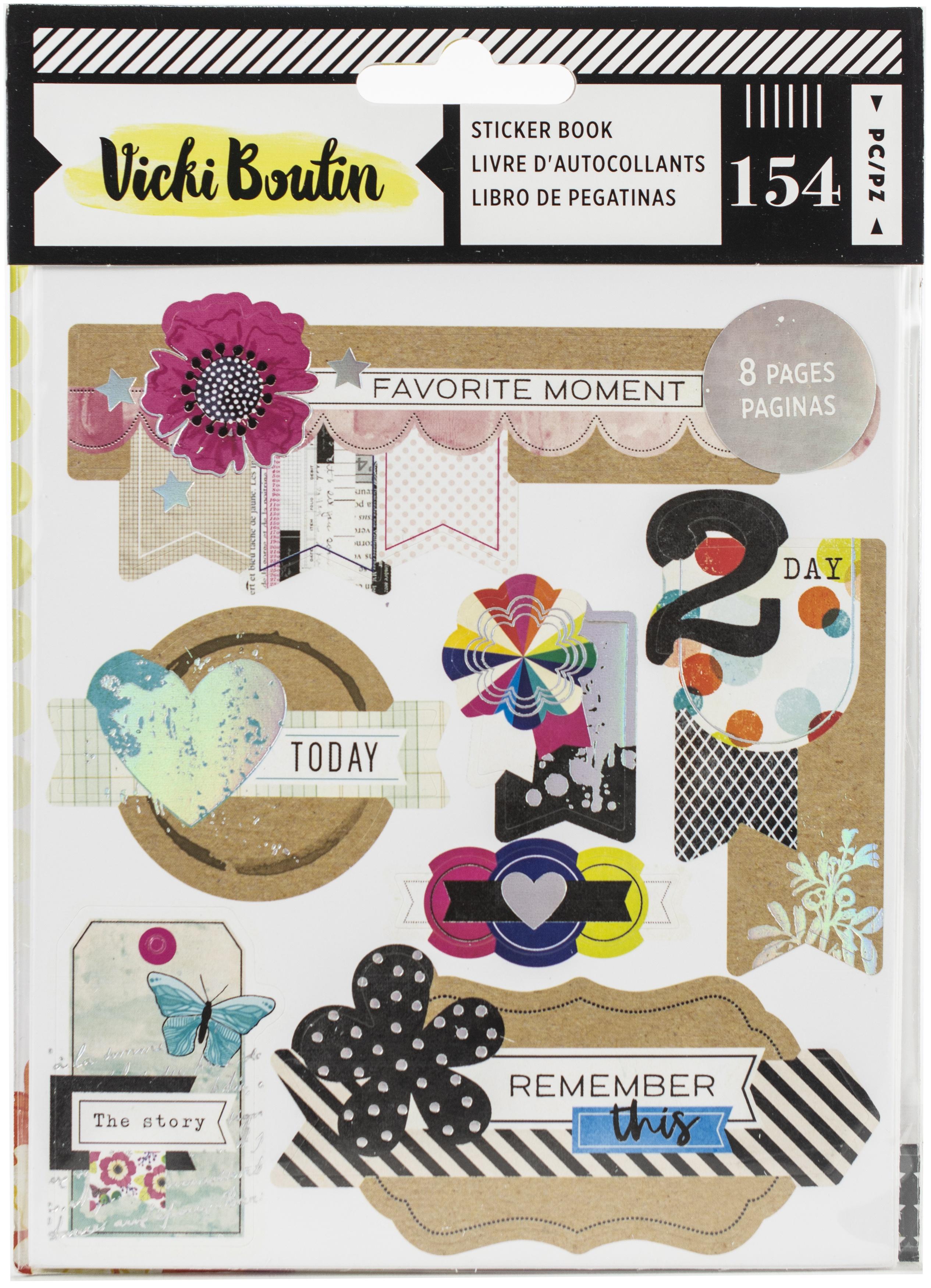 Vicki Boutin Color Kaleidoscope Sticker Book 154/Pkg-