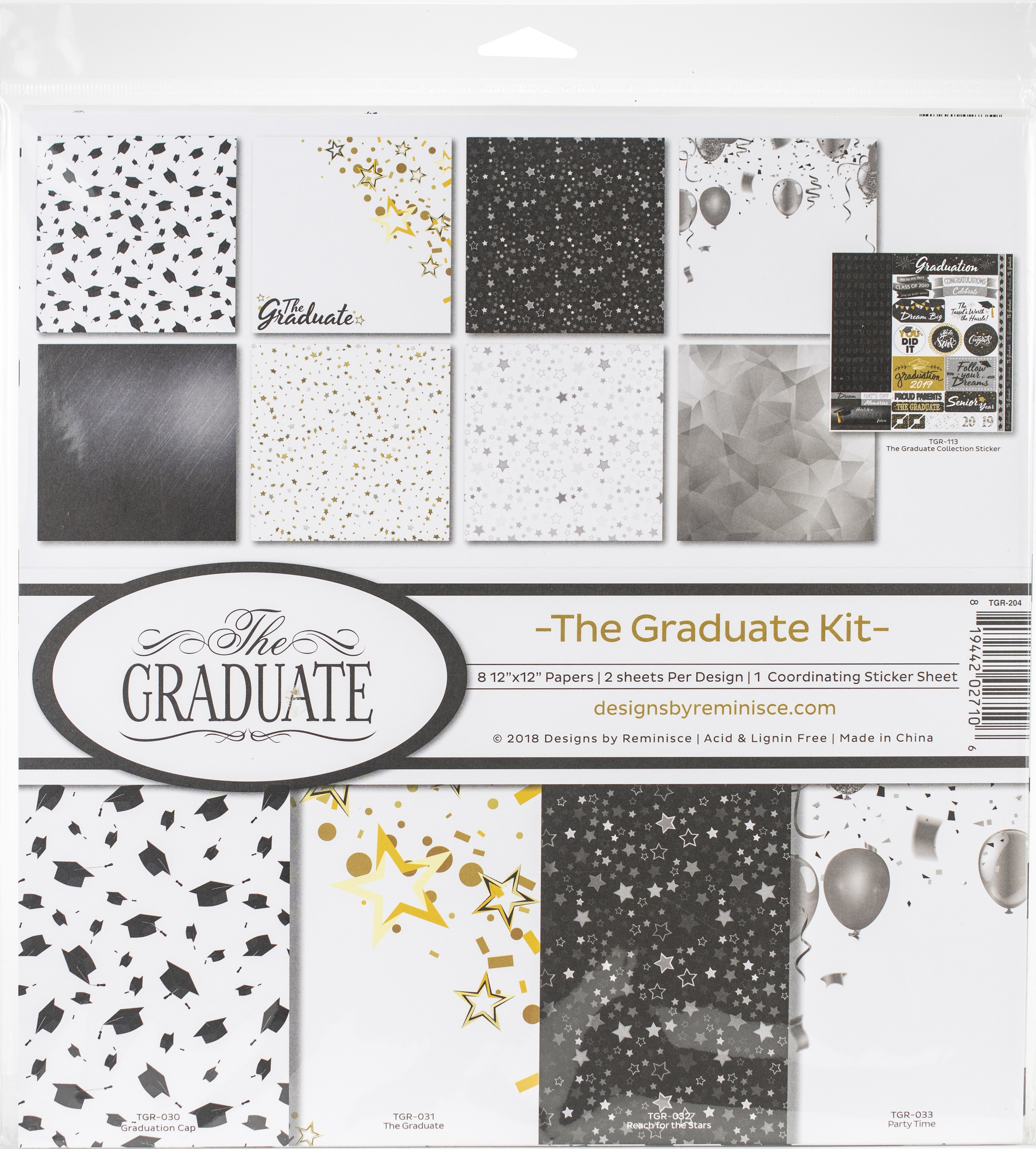 The Graduate Reminisce Collection Kit 12X12