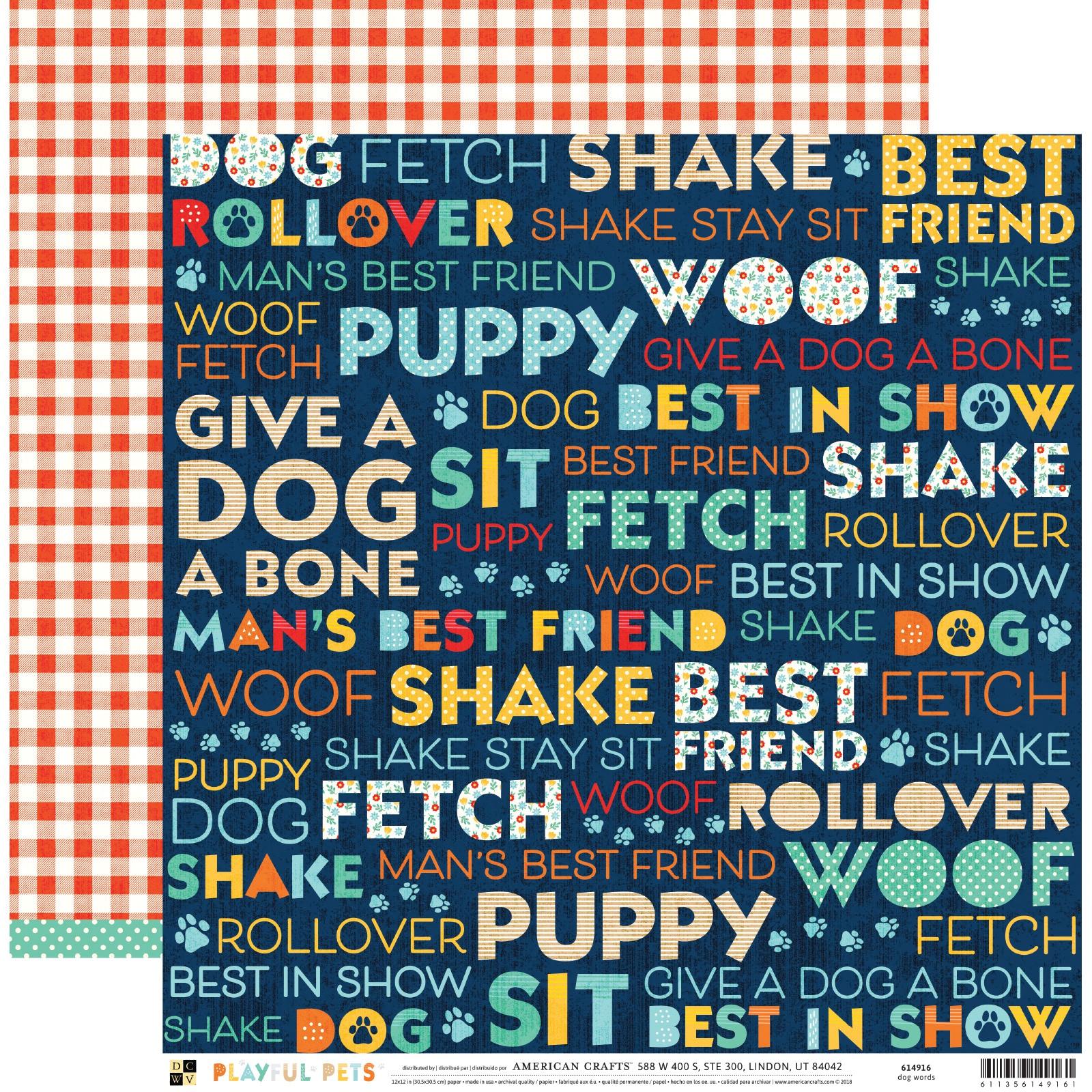 DCWV Playful Pets - Dog Words