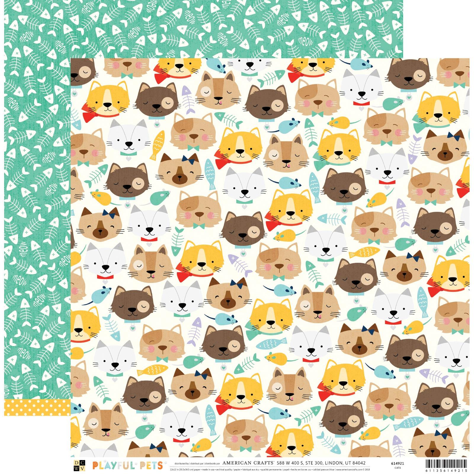 DCWV Playful Pets - Cats