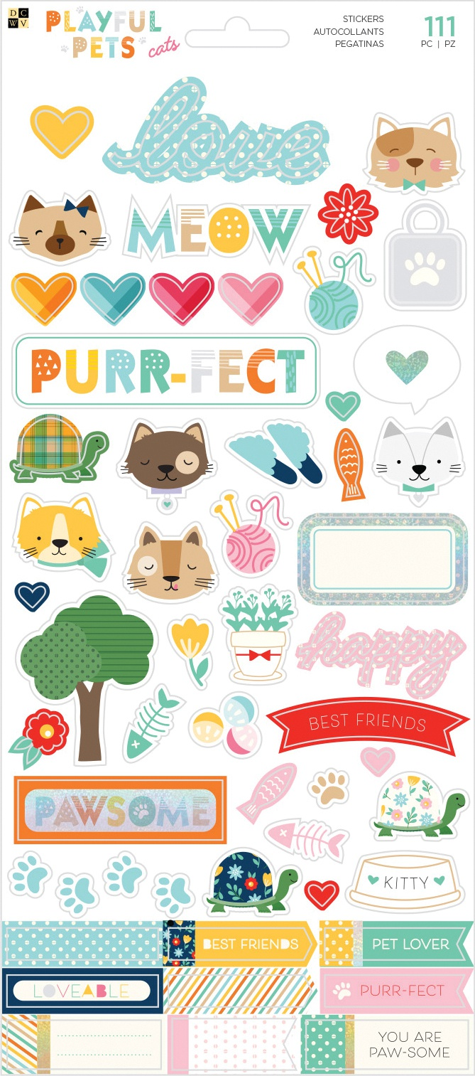 Playful Pets Cats Stickers