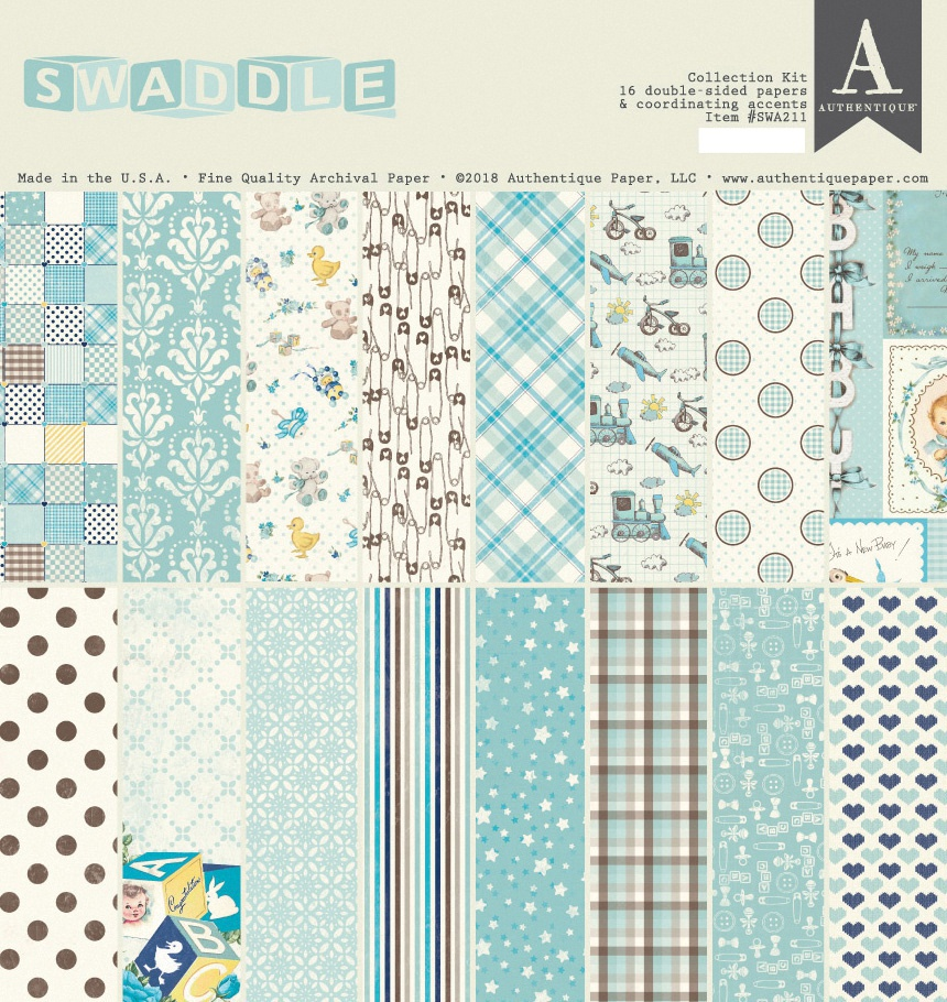 Authentique Collection Kit 12X12-Swaddle Boy