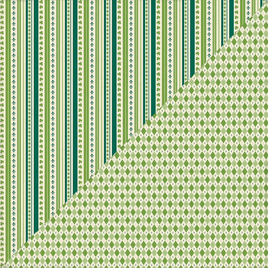 Clover Double-Sided Cardstock 12X12-#1 Vertical Stripe