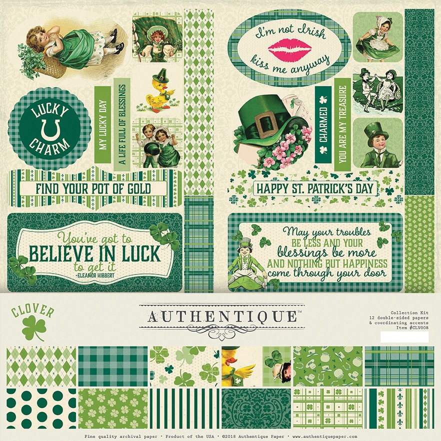 Authentique Collection Kit 12X12-Clover
