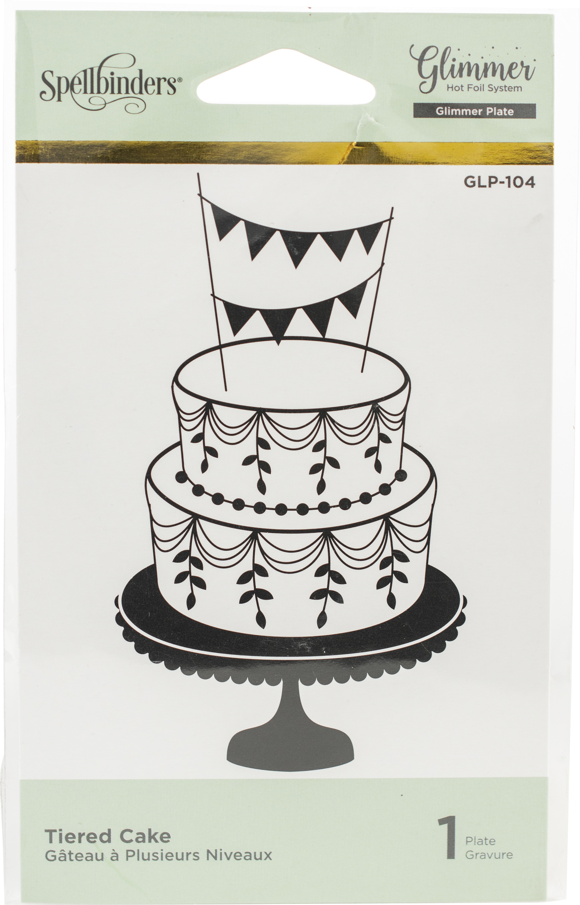 tiered cake glimmer plate