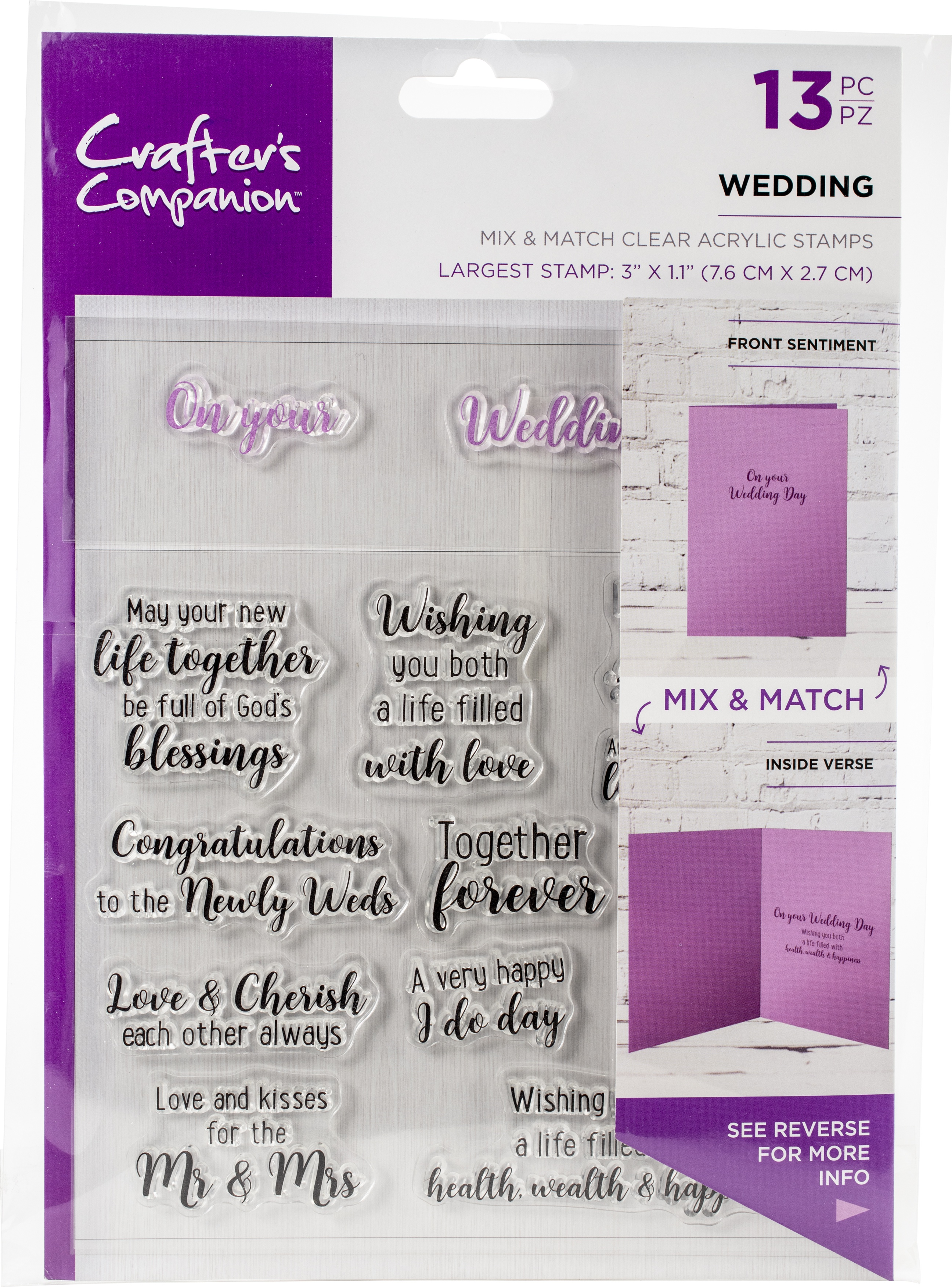 Crafter's Companion Clear Stamps - Wedding