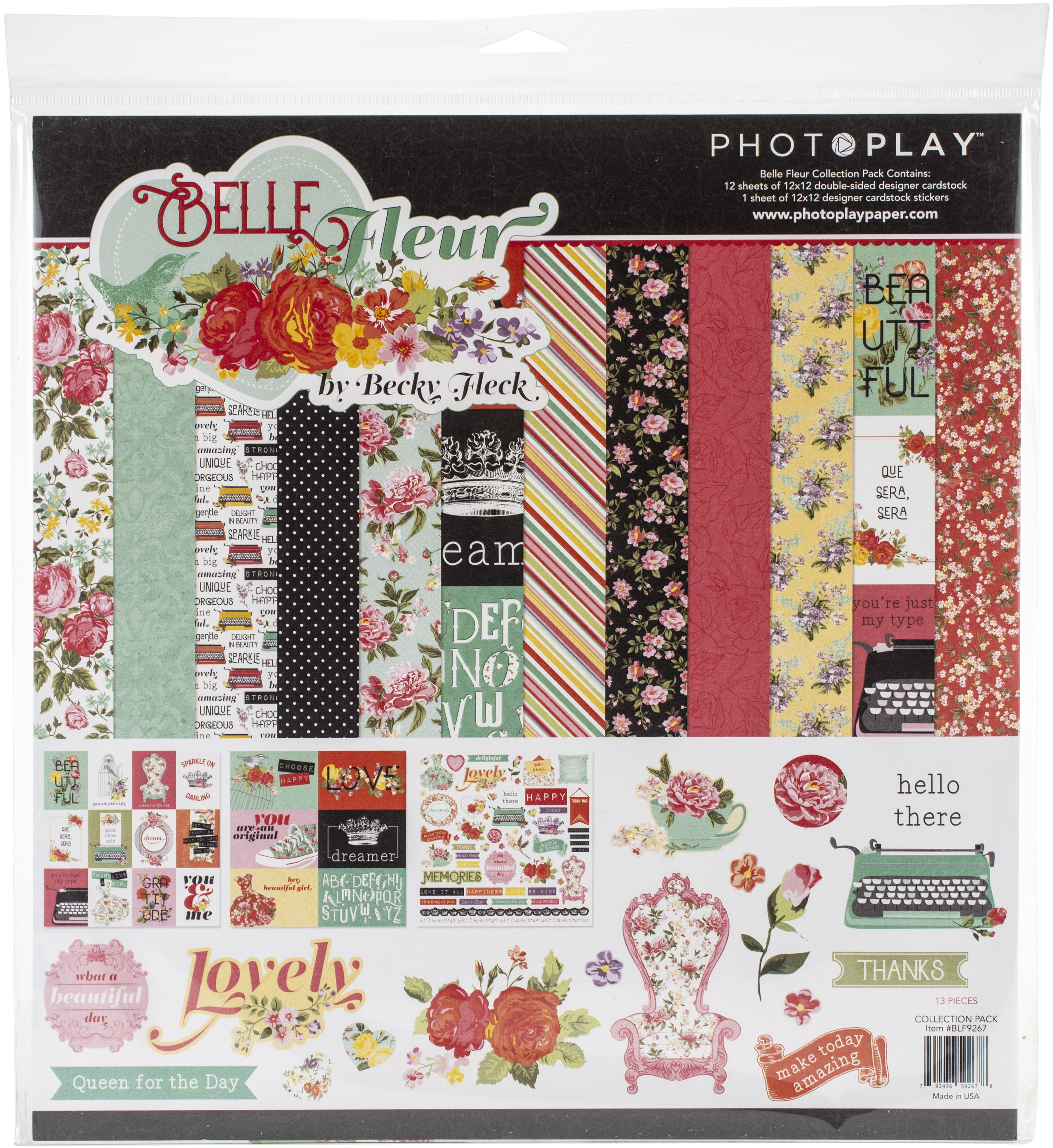 PhotoPlay Collection Pack 12X12-Belle Fleur