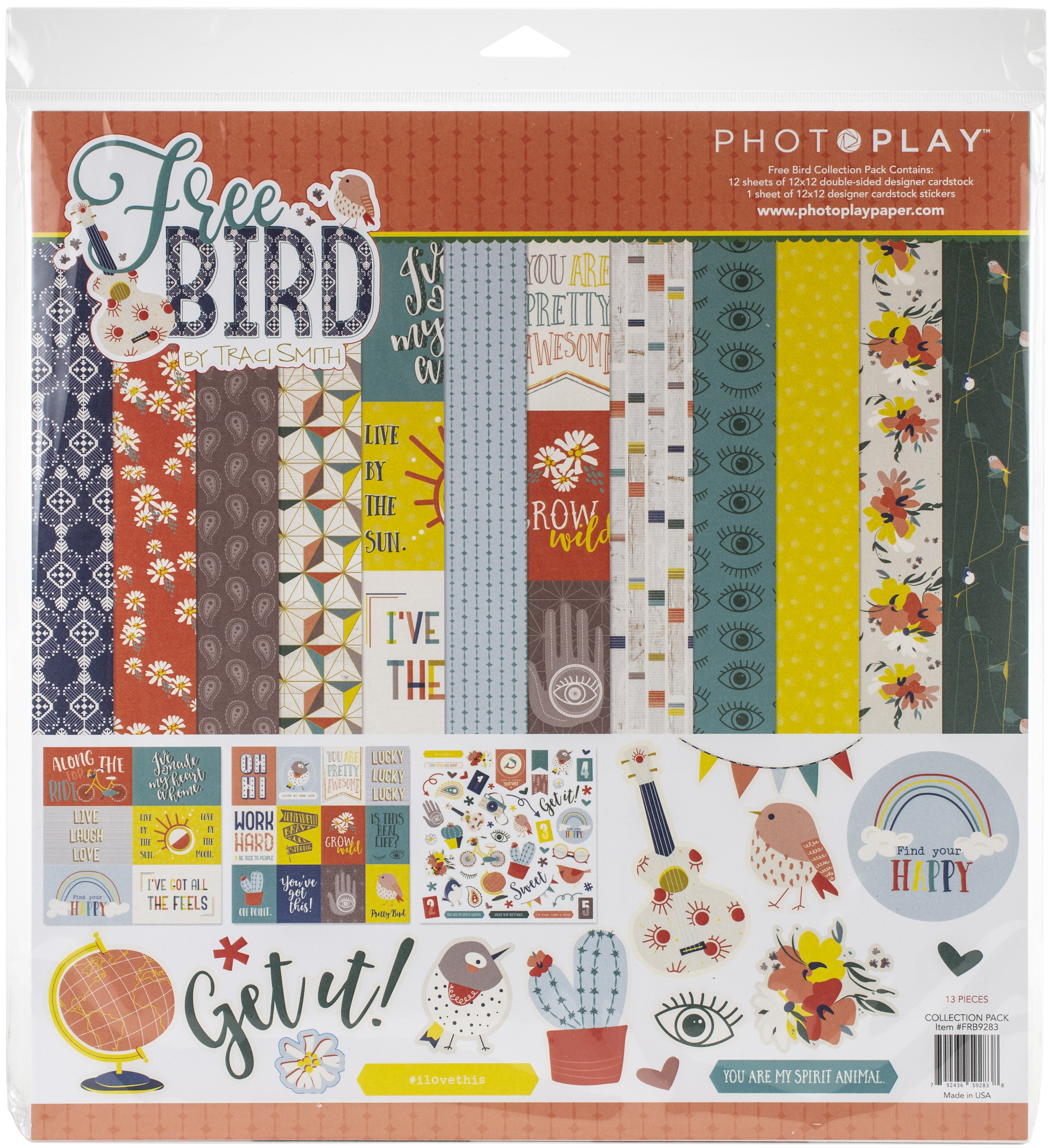 PhotoPlay Collection Pack 12X12-Free Bird