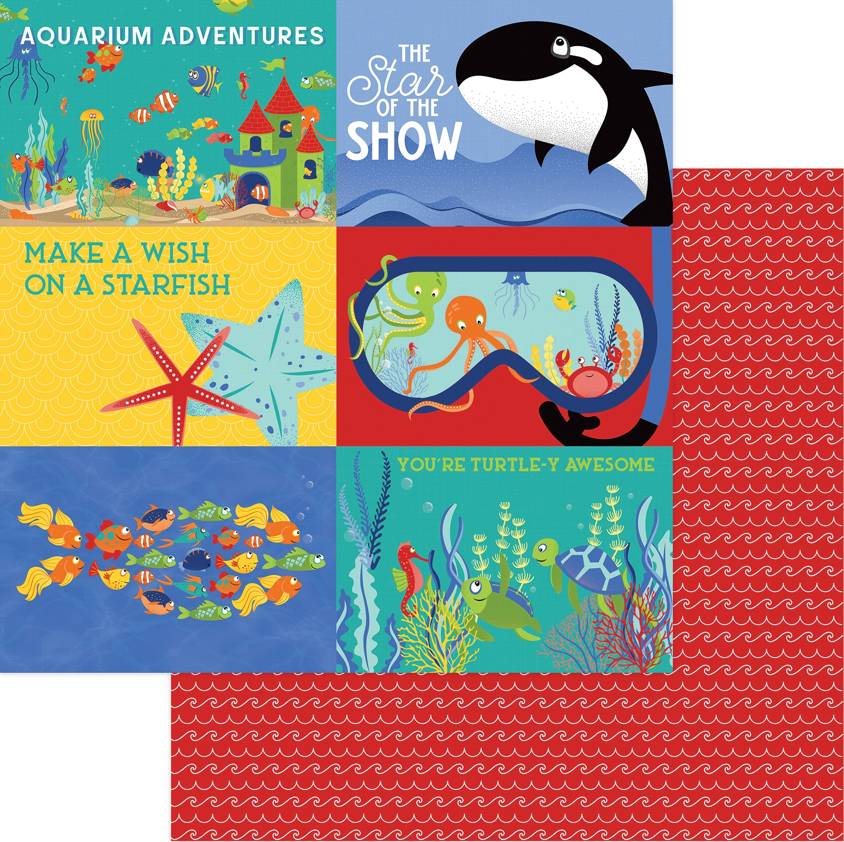 Fish Tales Double-Sided Cardstock 12X12-Showtime