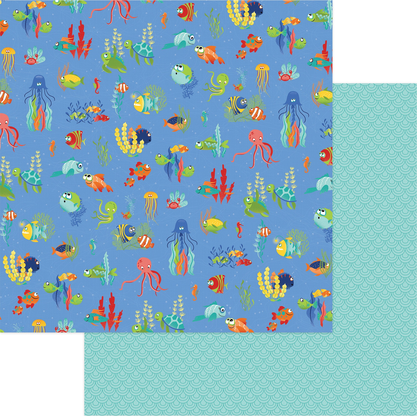 Fish Tales Double-Sided Cardstock 12X12-Under The Sea