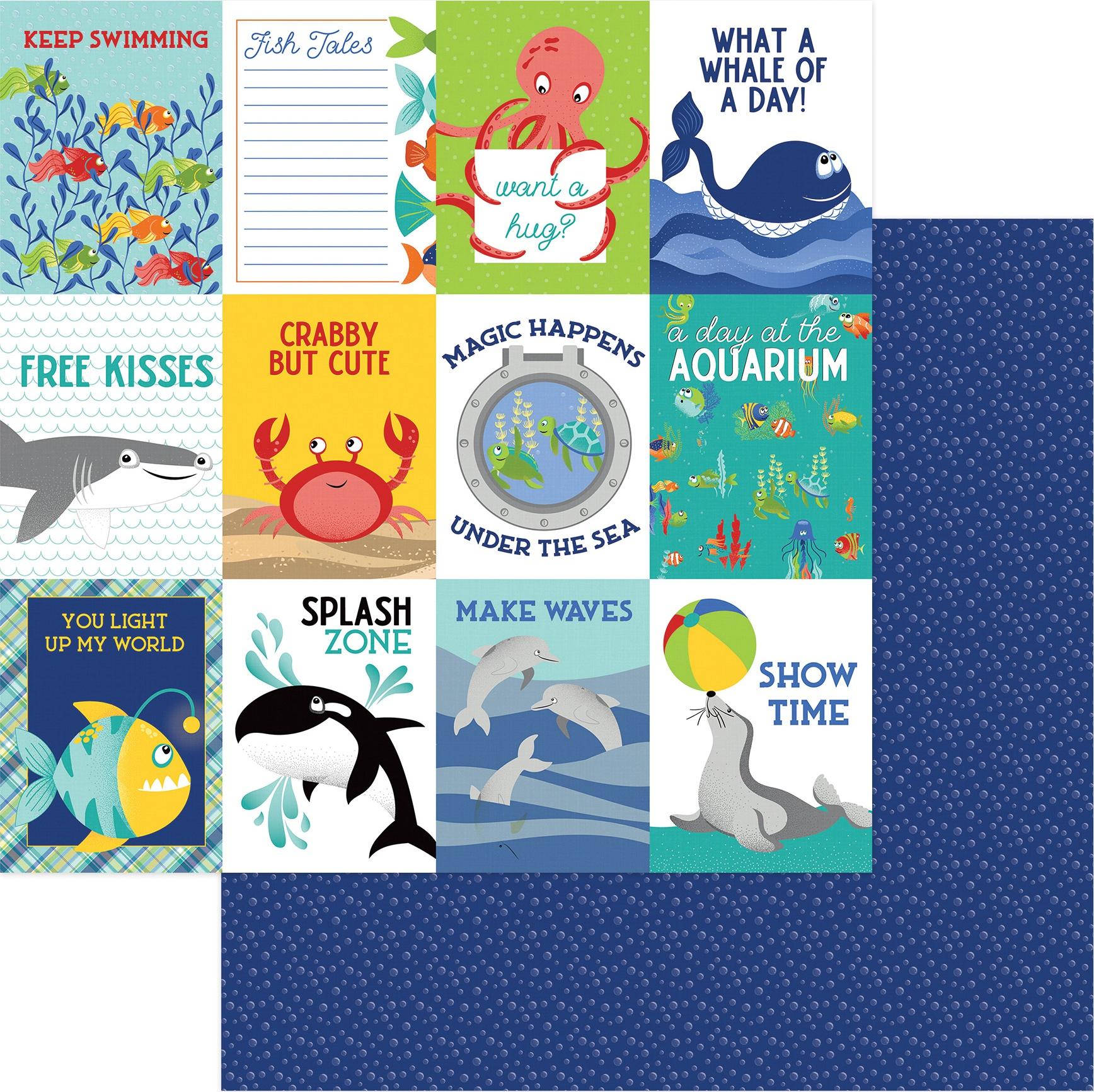 Fish Tales Double-Sided Cardstock 12X12-Splash Zone