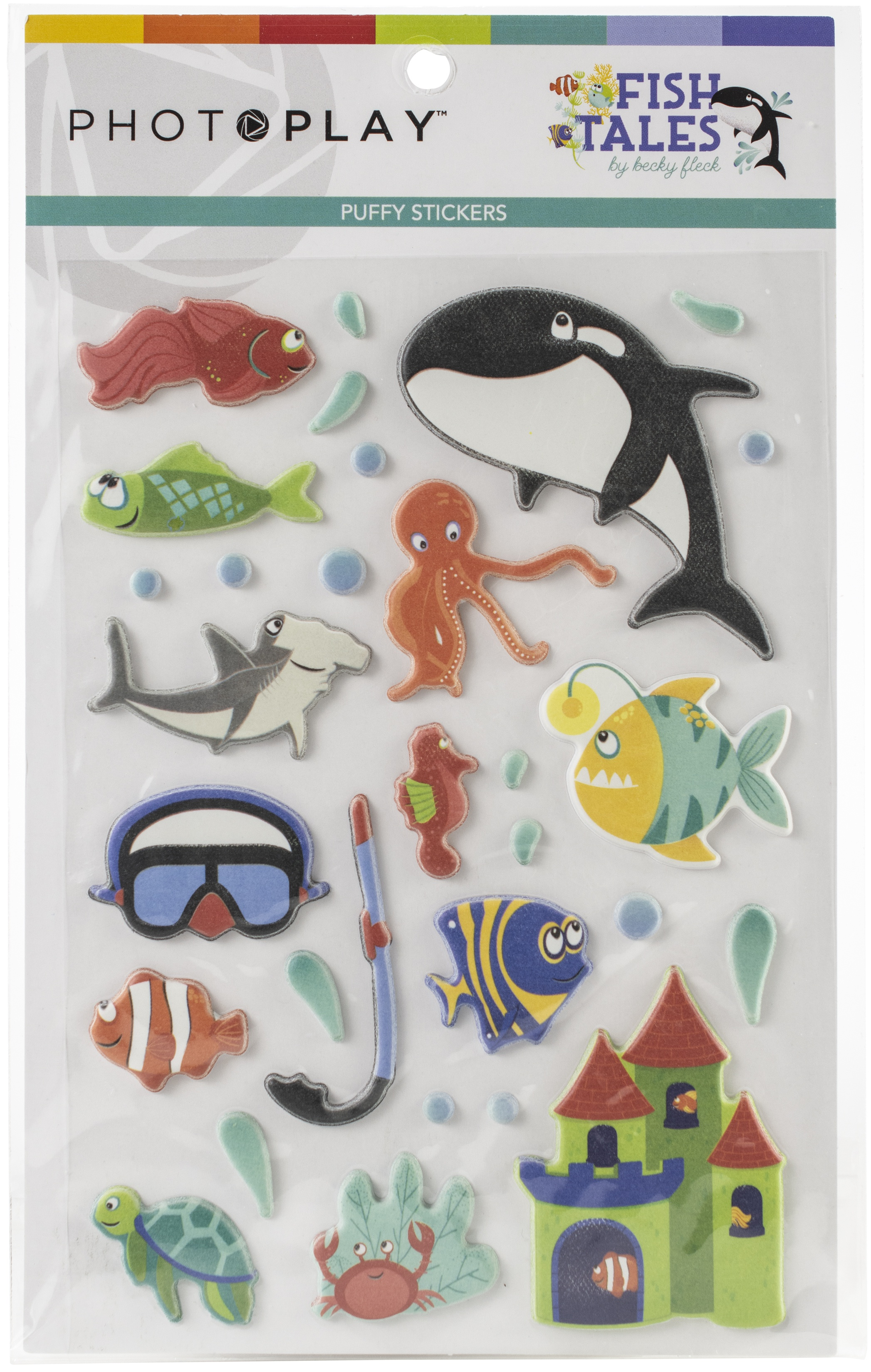 PhotoPlay - Fish Tales Collection - Puffy Stickers