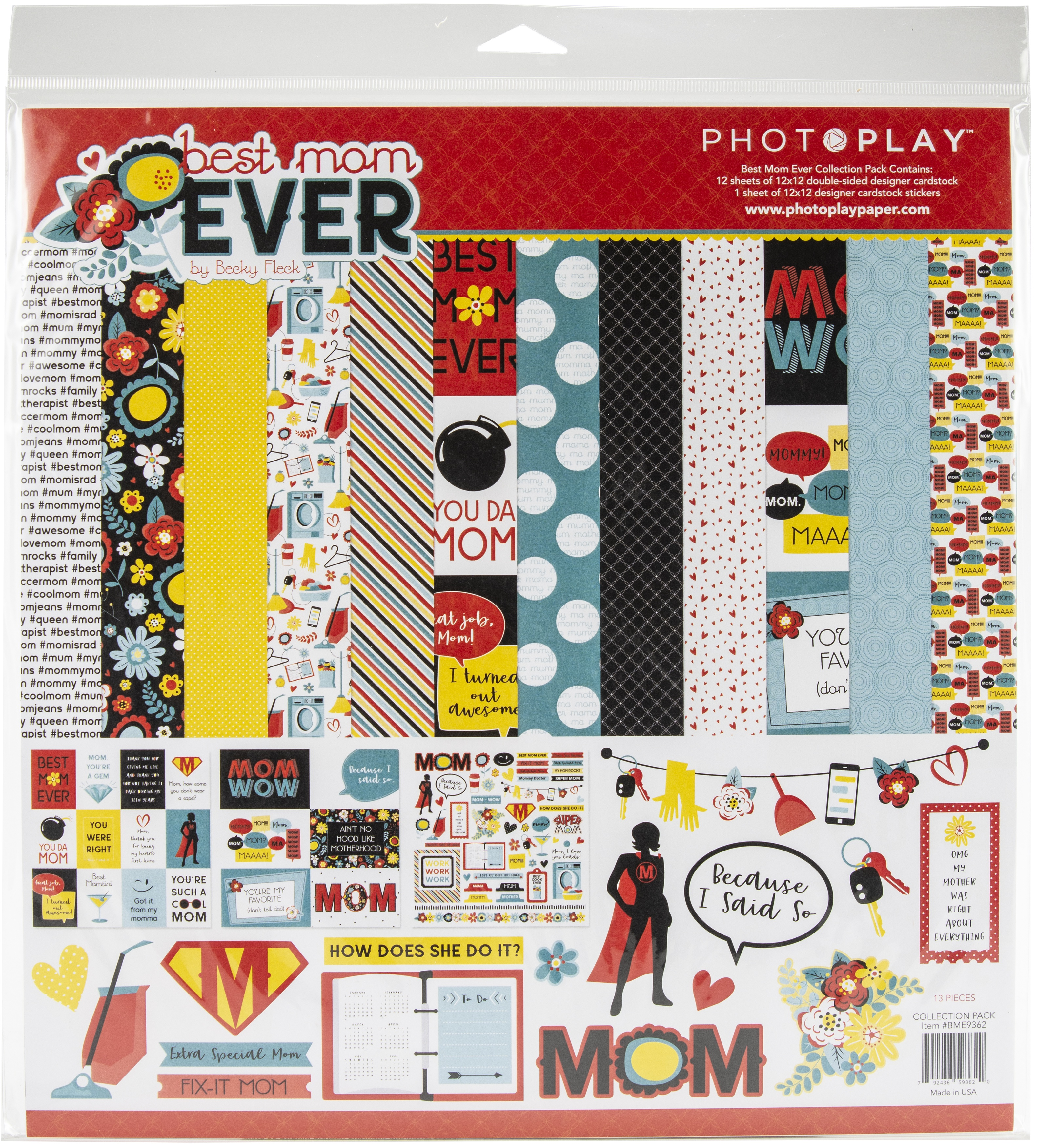 PhotoPlay Collection Pack 12X12-Best Mom Ever