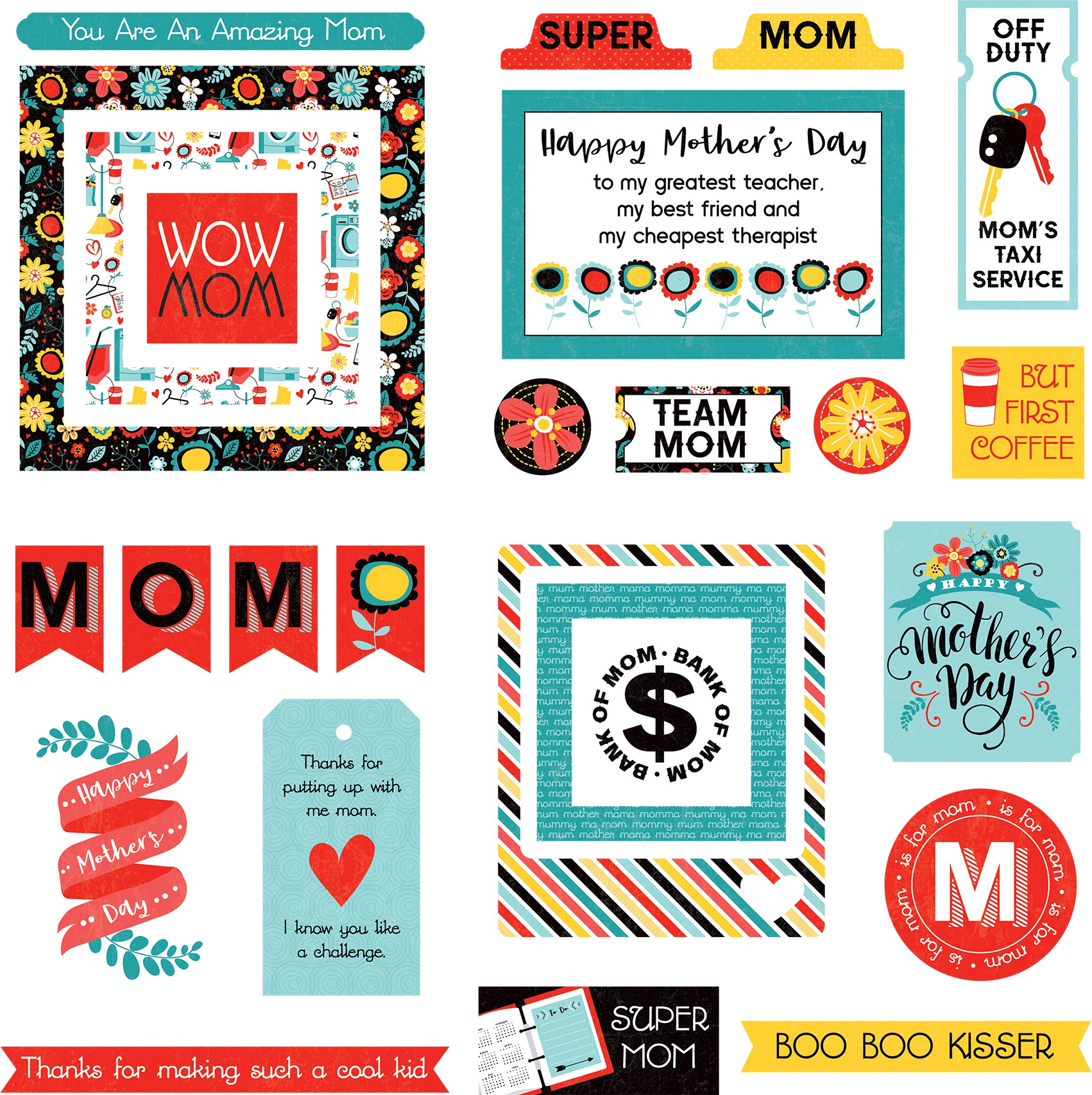 Best Mom Ever Ephemera Cardstock Die-Cuts-