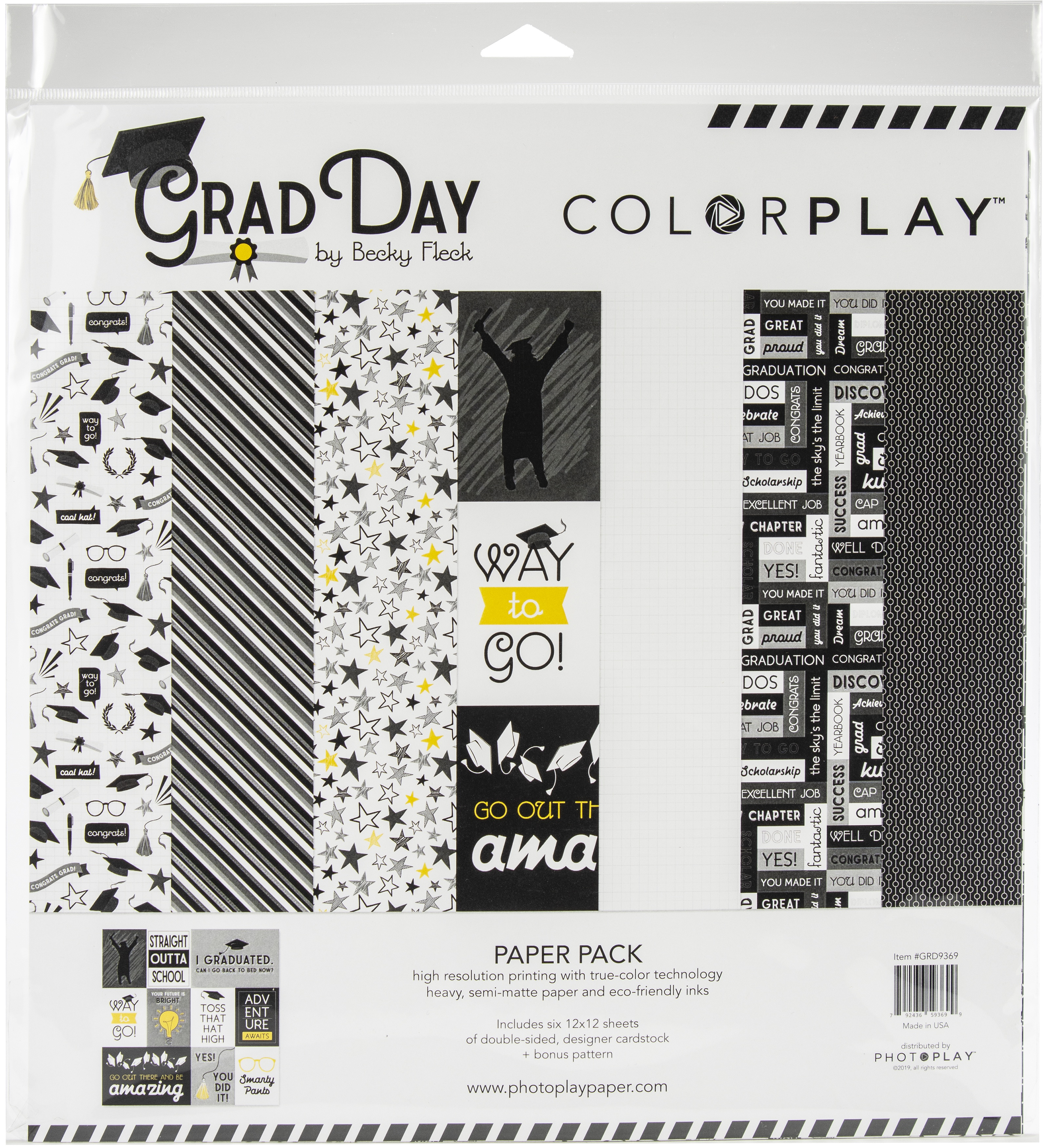 Grad Day ColorPlay Collection Pack 12X12 6 Designs/2 Each + Bonus