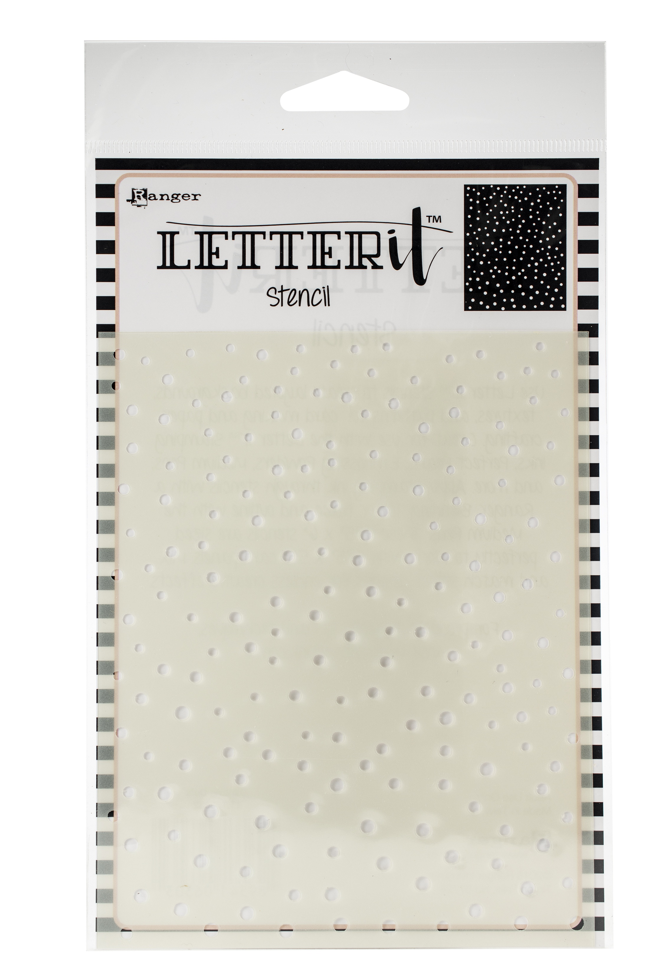 Ranger Letter It Background Stencil 4.75X6-Dancing Dots