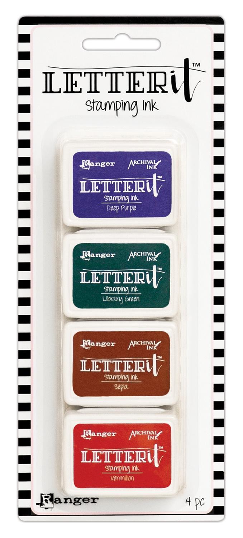 Ranger Letter It Stamping Ink Set-#4