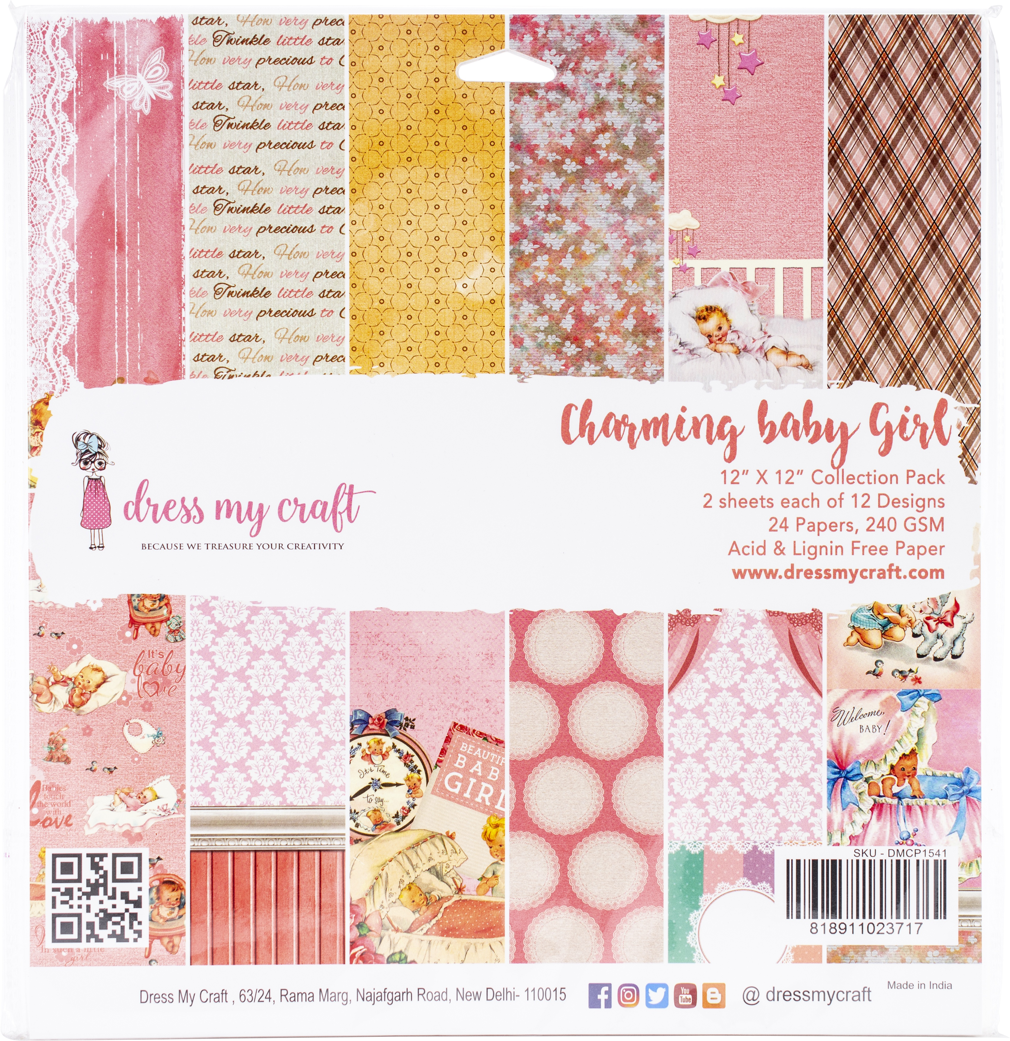 Dress My Craft Charming Baby Girl Collection Pack Paper