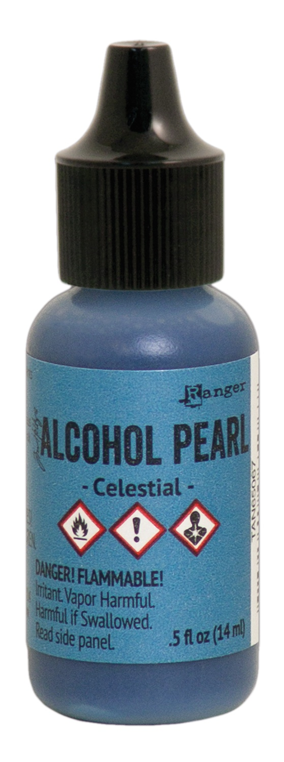 Tim Holtz Alcohol Pearls .05oz-Celestial