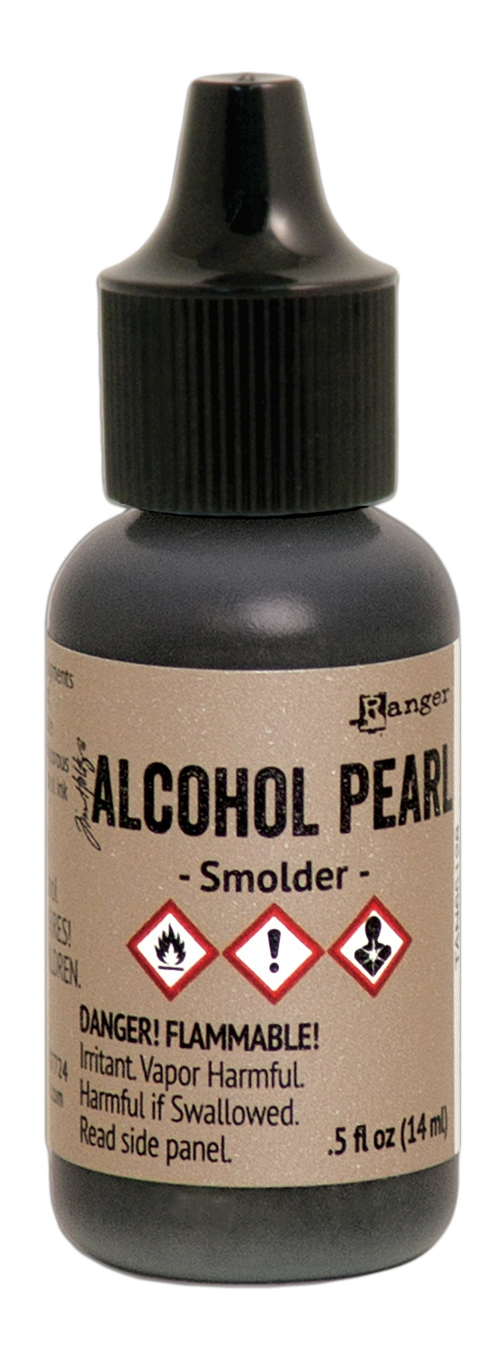 Tim Holtz Alcohol Pearls .05oz-Smolder