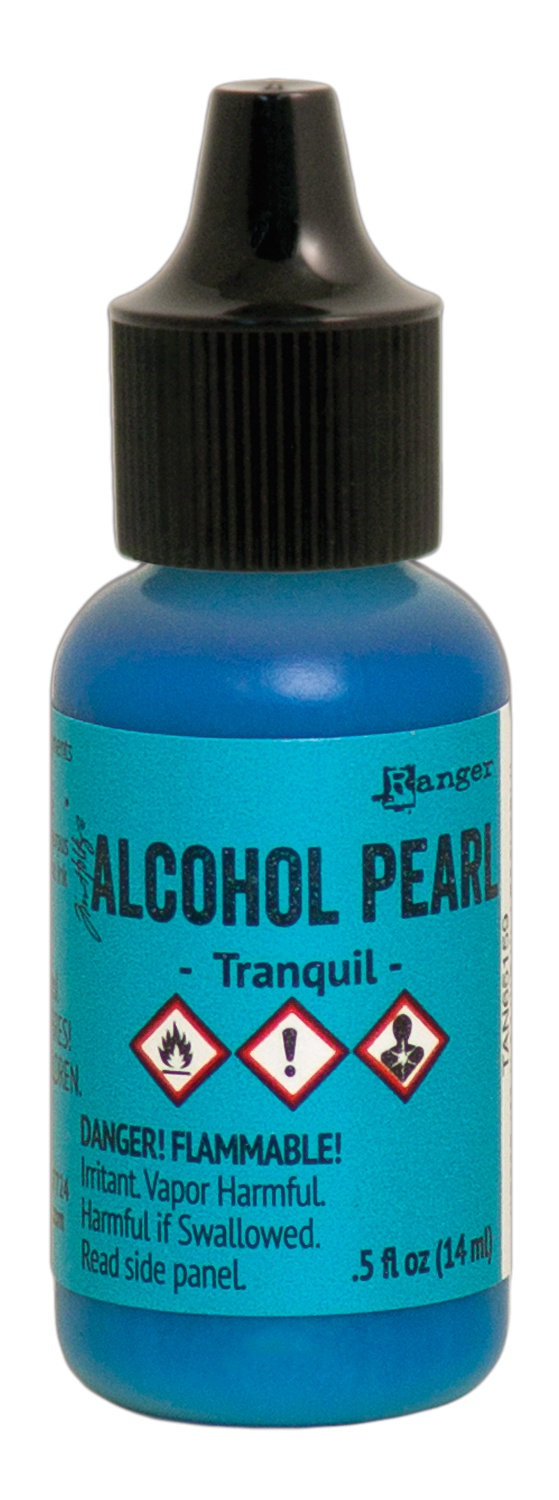 Tim Holtz Alcohol Pearls .05oz-Tranquil
