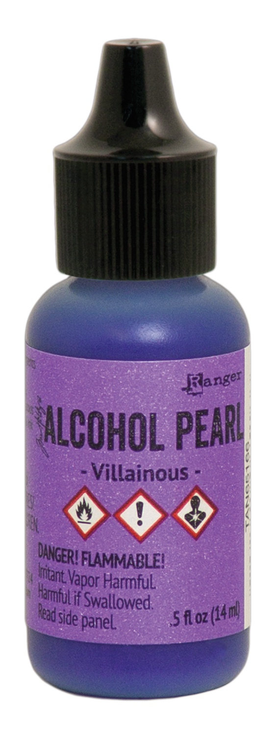 Tim Holtz Alcohol Pearls .05oz-Villainous