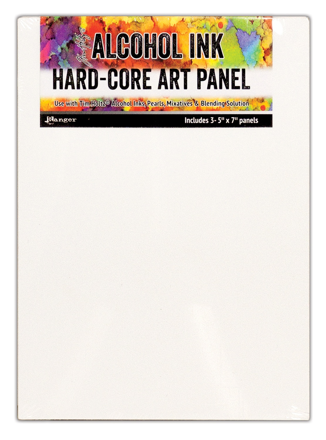 Tim Holtz Alcohol Ink Hard Core Art Panel 5X7 3/Pkg-