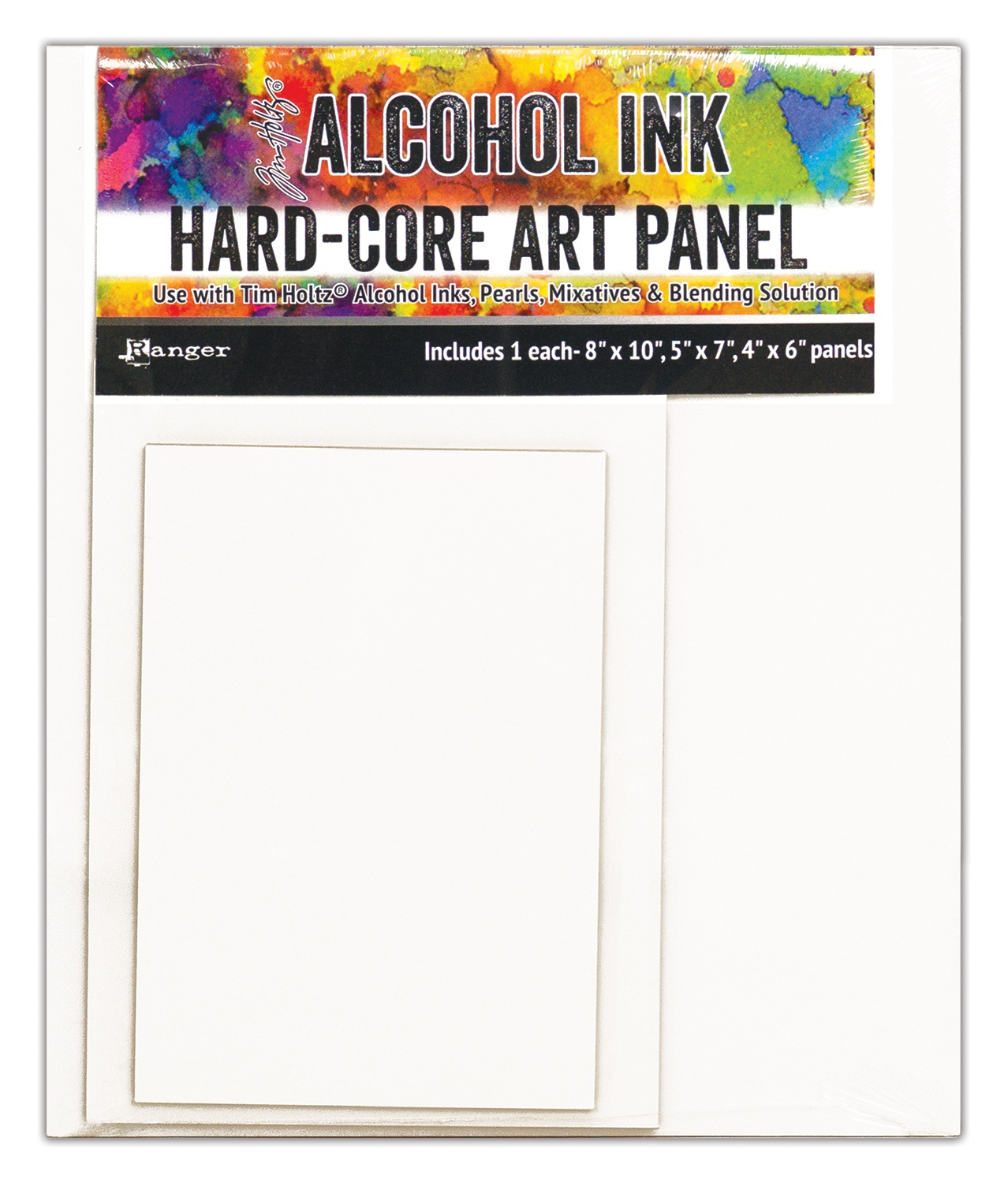Alcohol Ink Hard-Core Panel 8x10 5x7 4x6