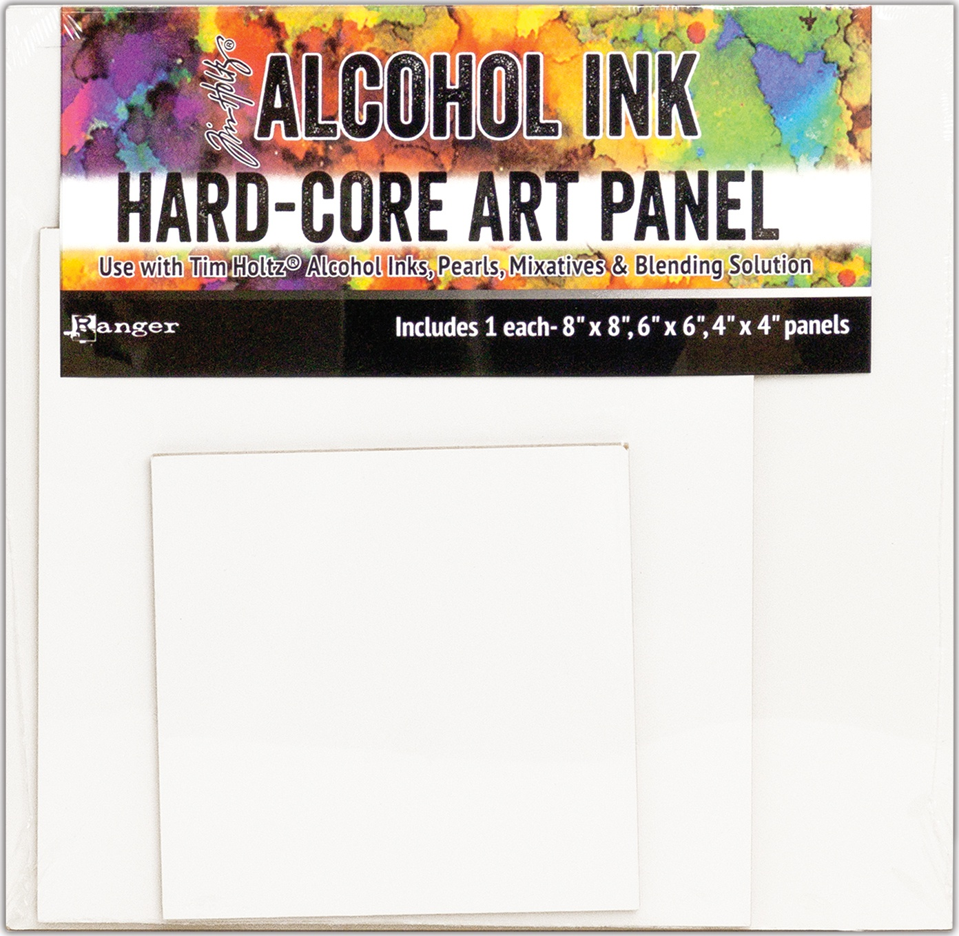 Alcohol Ink Hard-Core Panel 8x8 6x6 4x4