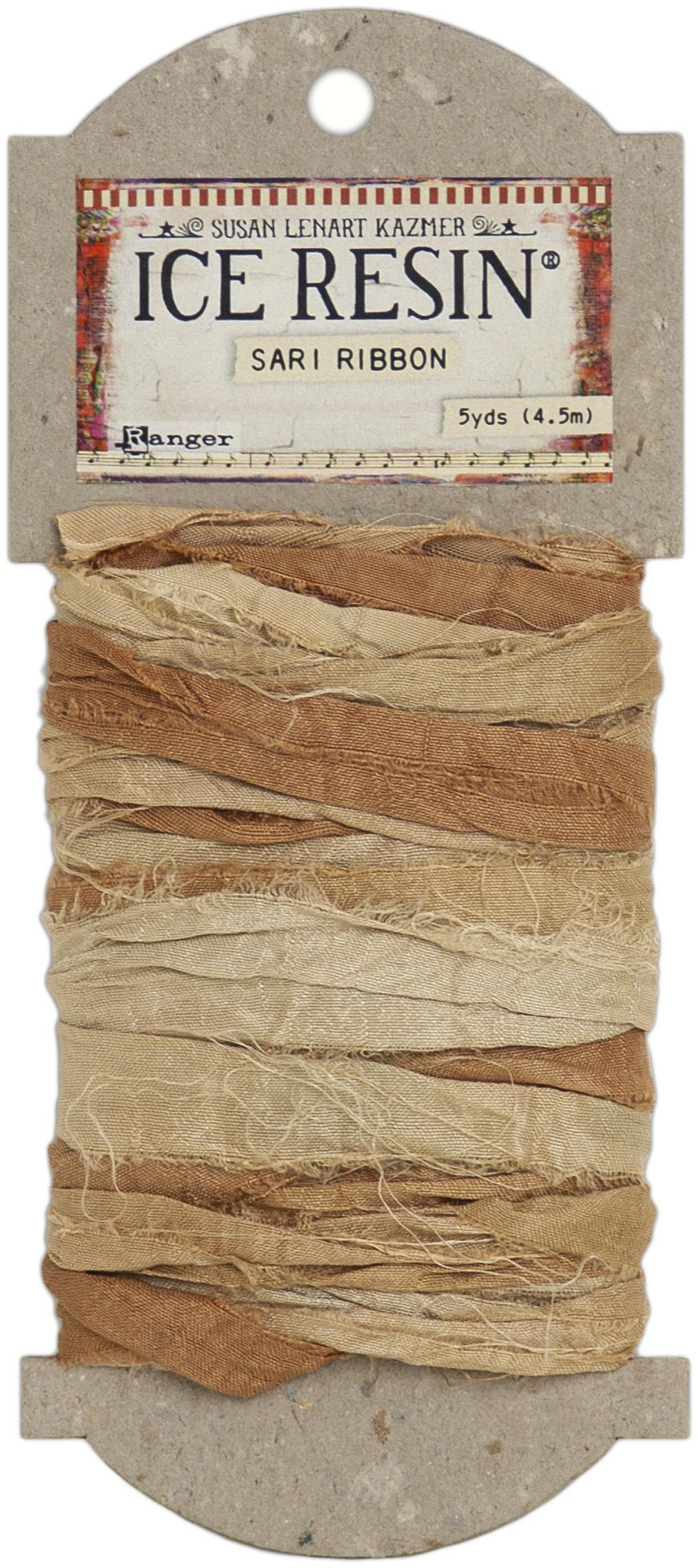 Ice Resin Silk Sari Ribbon-Neutral