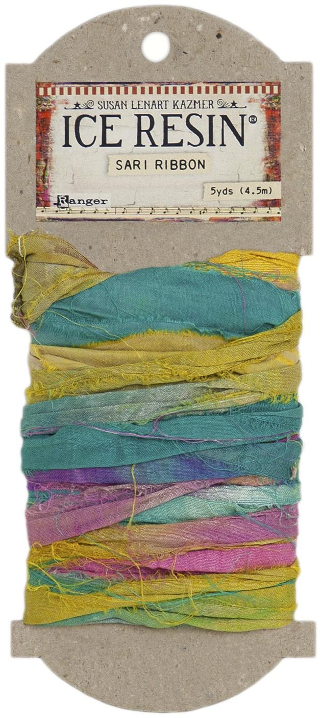 Ice Resin Silk Sari Ribbon-Jewel