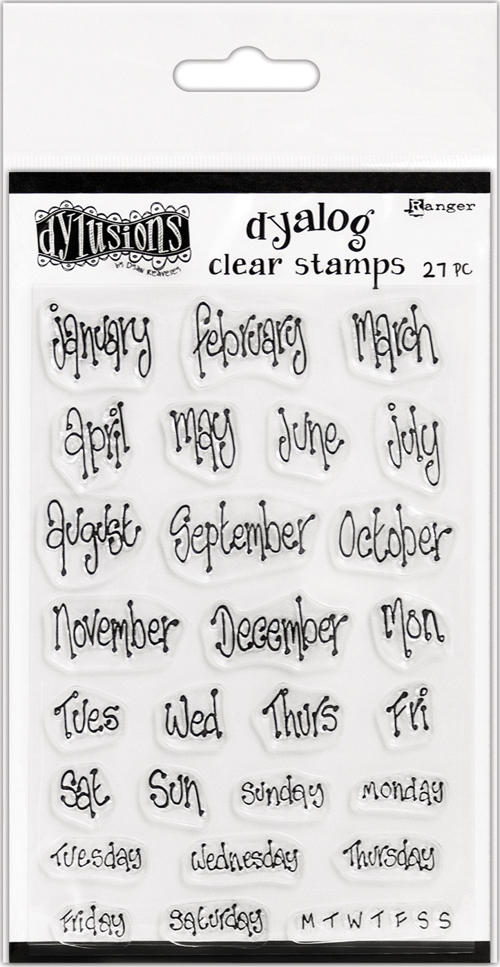 Dyan Reaveley's Dylusions Clear Stamps 4X8-Blind Date