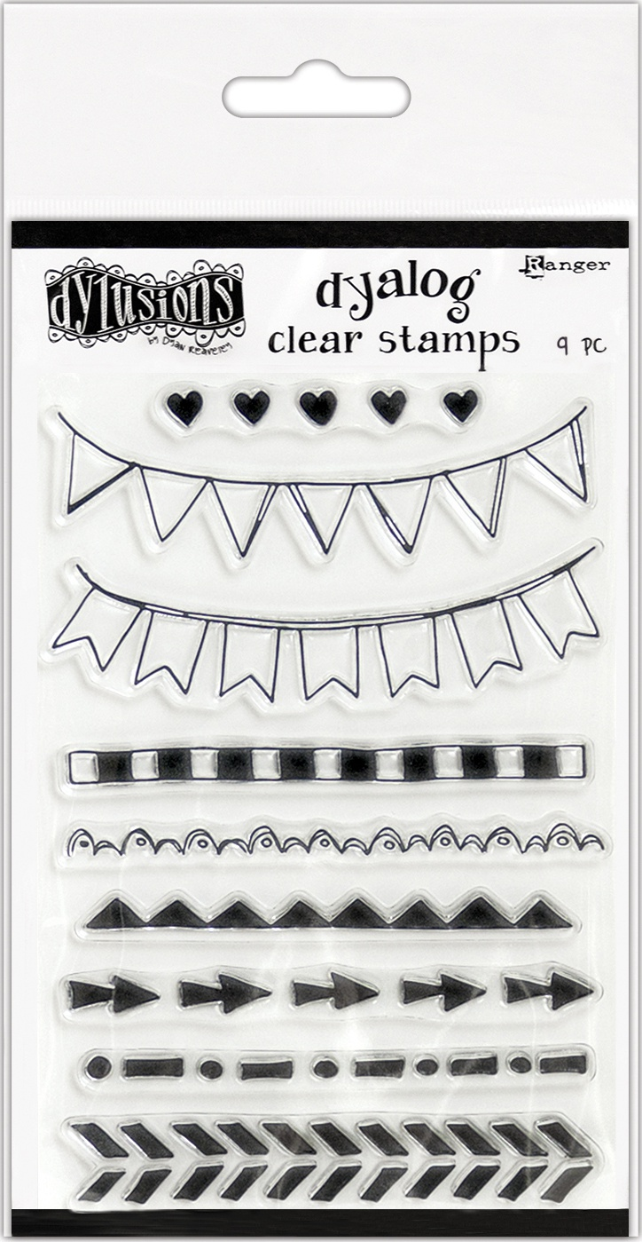 Dyan Reaveley's Dylusions Clear Stamps 4X8-On The Edge