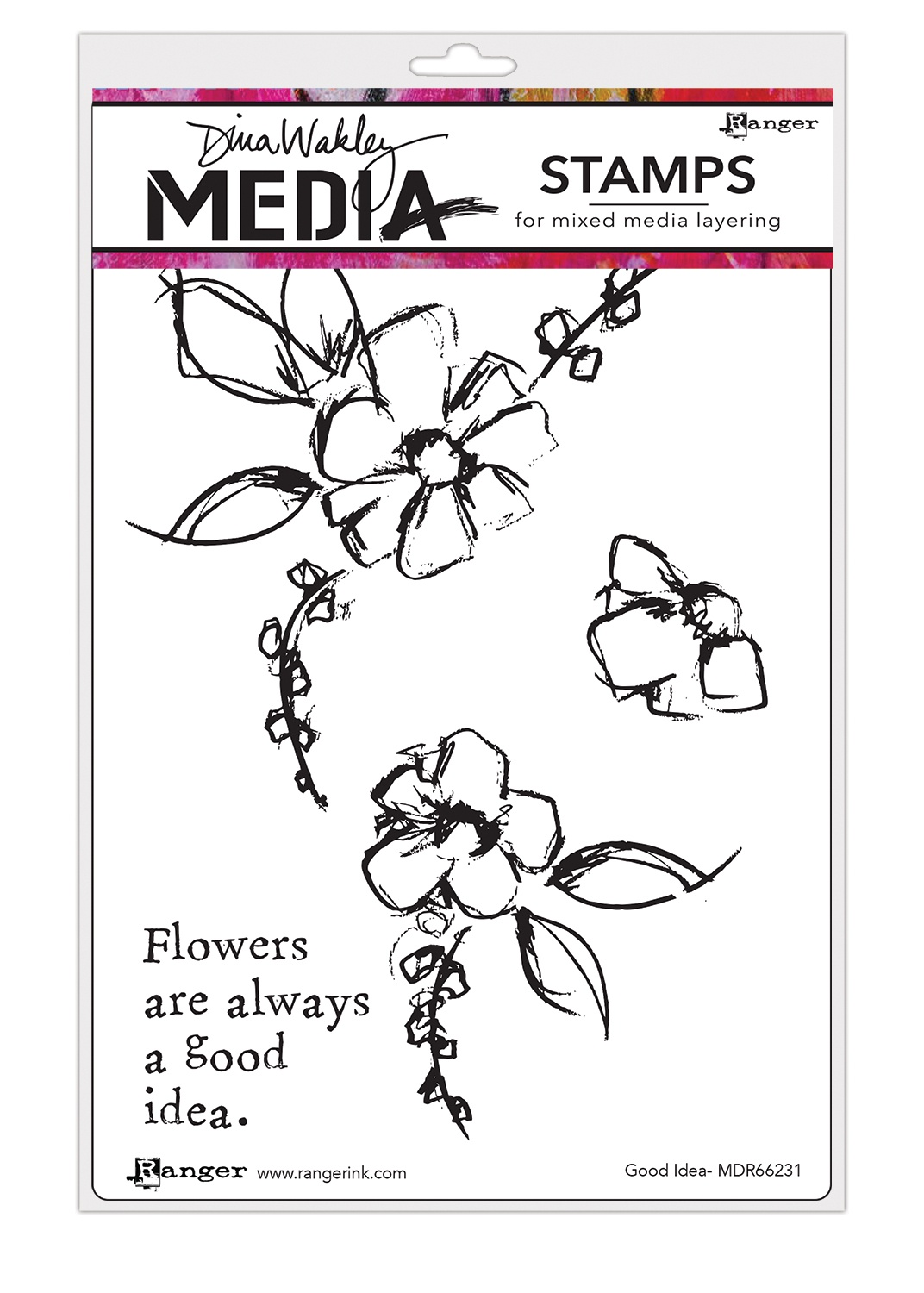 Dina Wakley Media Cling Stamps 6X9-Good Idea