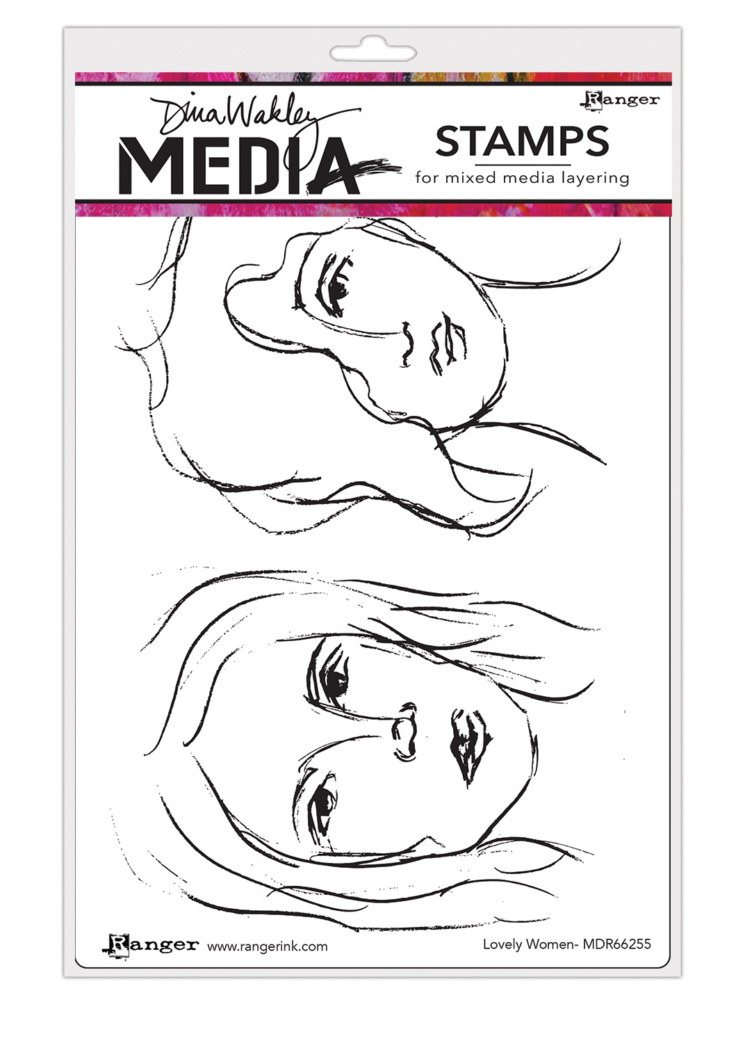 Dina Wakley Media Cling Stamps 6X9-Lovely Women