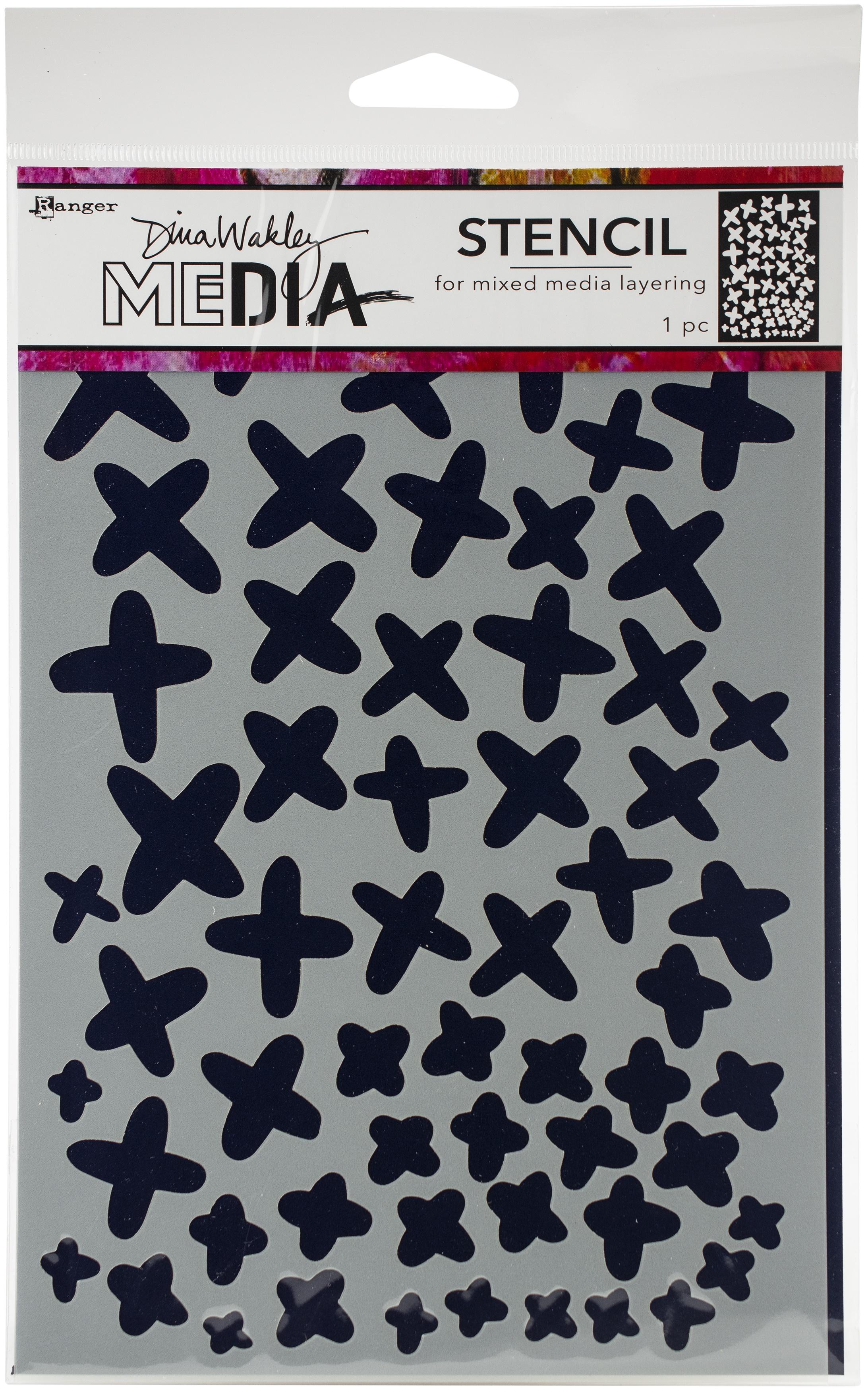 Dina Wakley Media Stencils 9X6-Xs