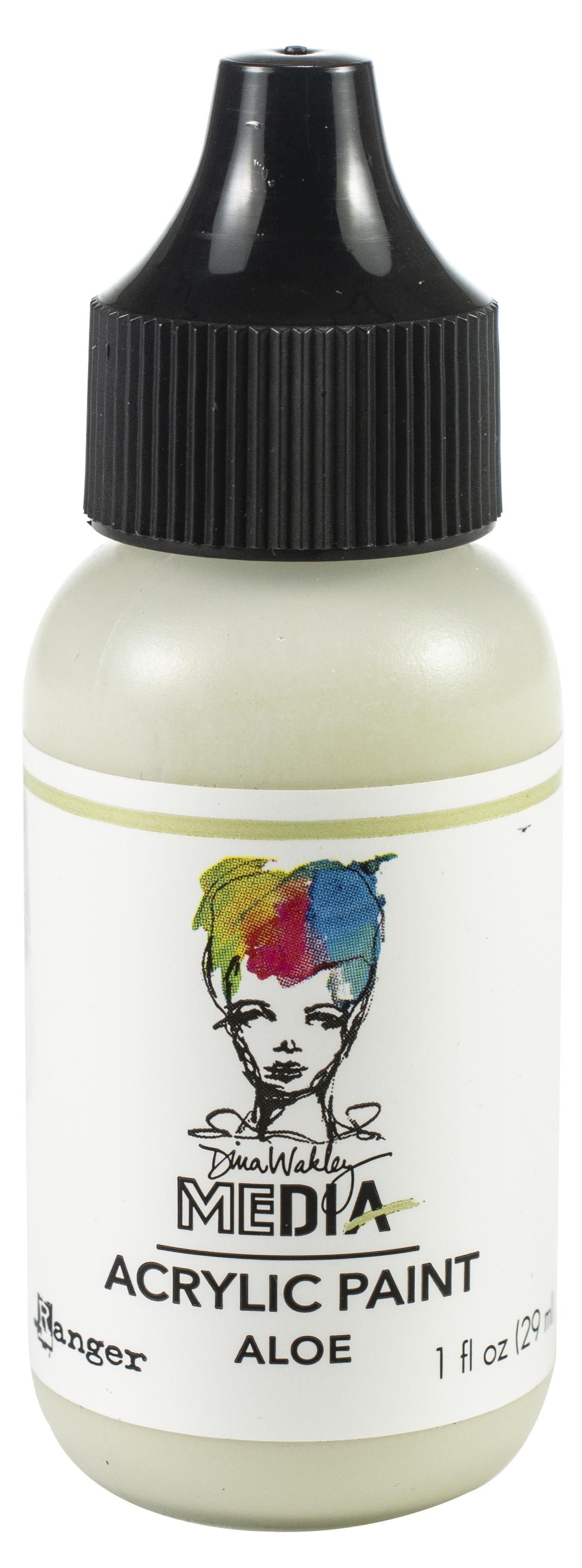 Dina Wakley Media Acrylic Paint 1oz-Aloe