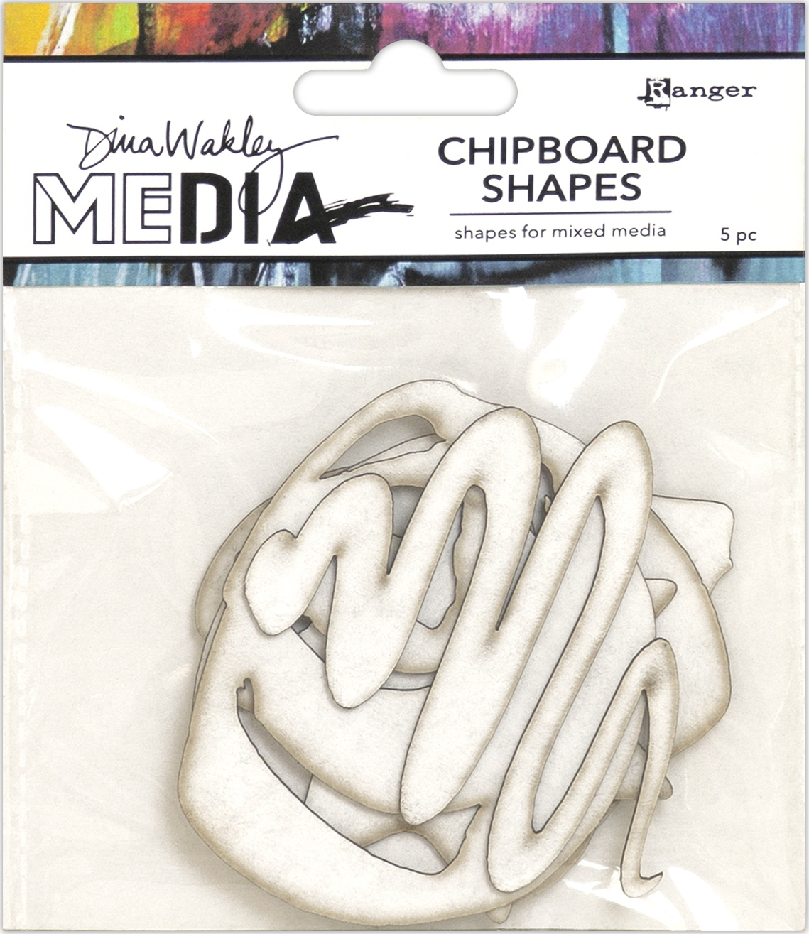 Dina Wakley Media Chipboard Shapes-Basics