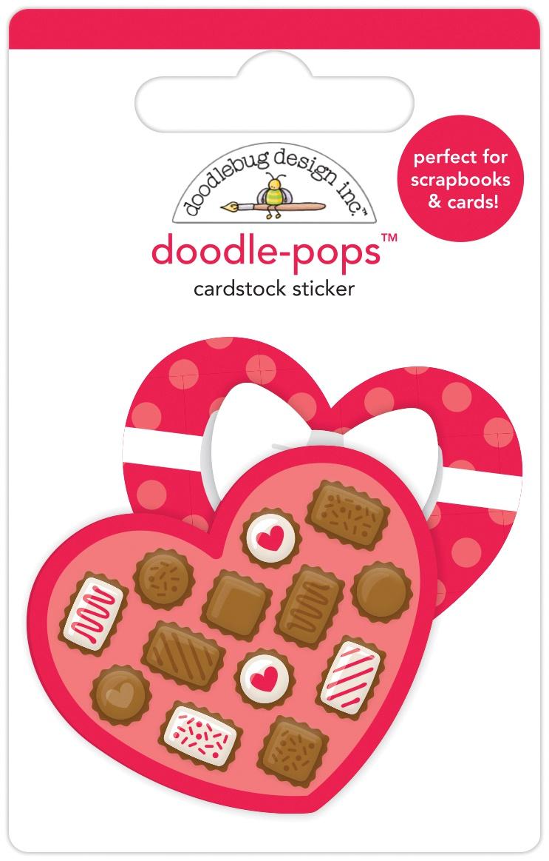 Doodlebug Doodle-Pops 3D Stickers-Sweetheart