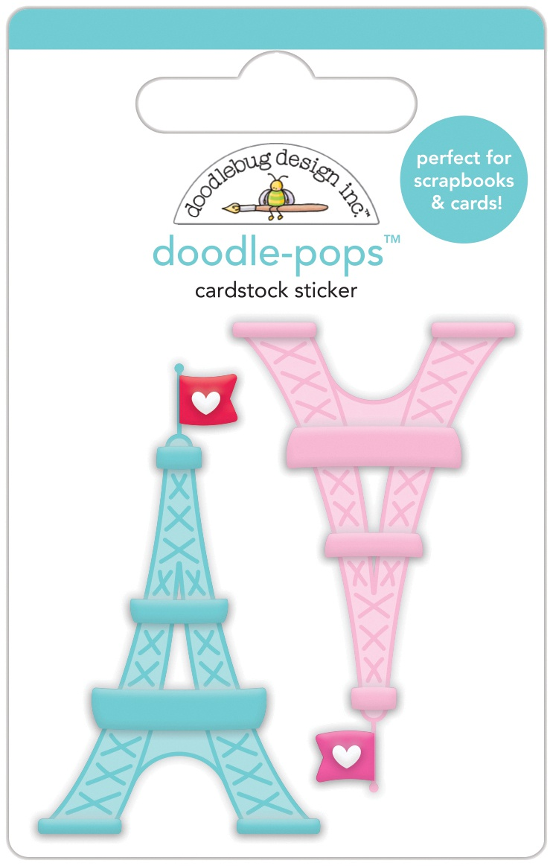 Doodlebug Doodle-Pops 3D Stickers-Tower Of Love
