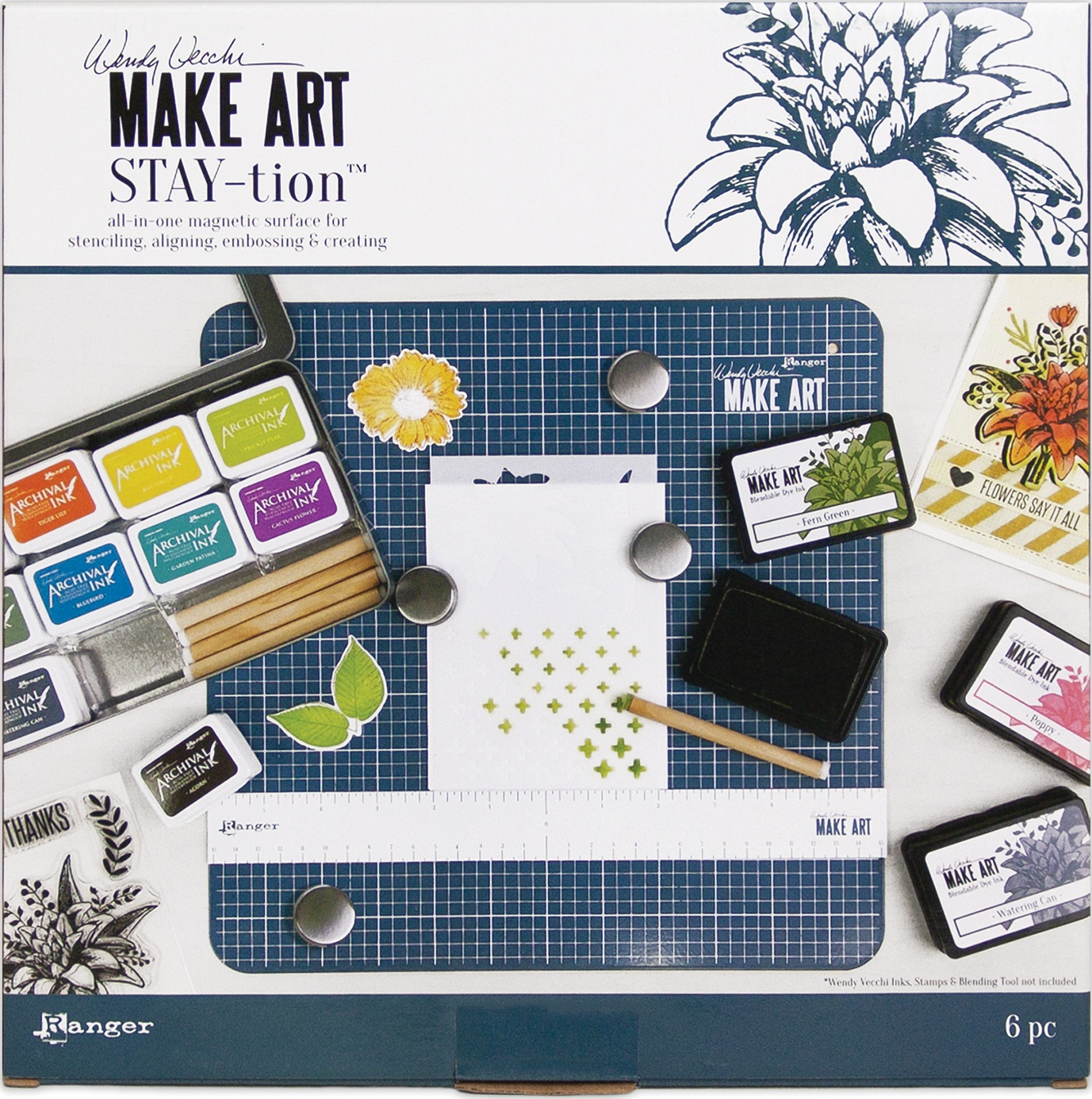 Wendy Vecchi MAKE ART Stay-tion-All-In-One Magnetic Surface