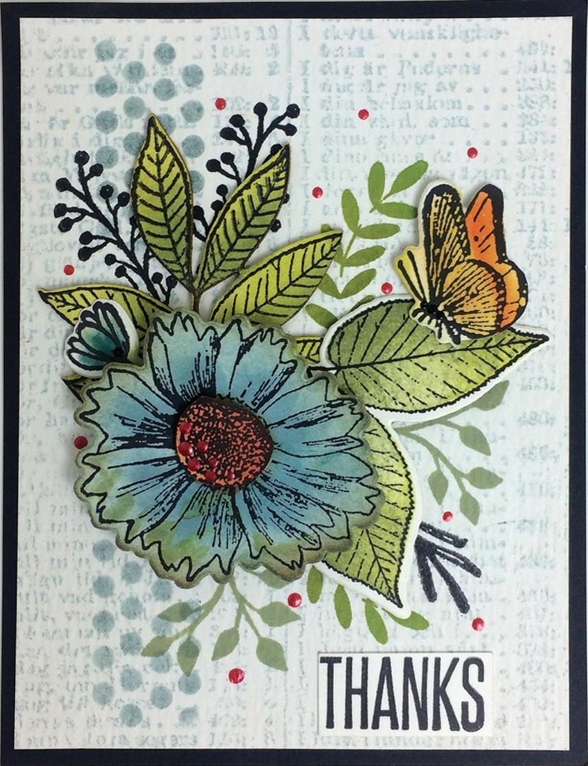 Wendy Vecchi Make Art Stamp, Die & Stencil Set-Country Flowers