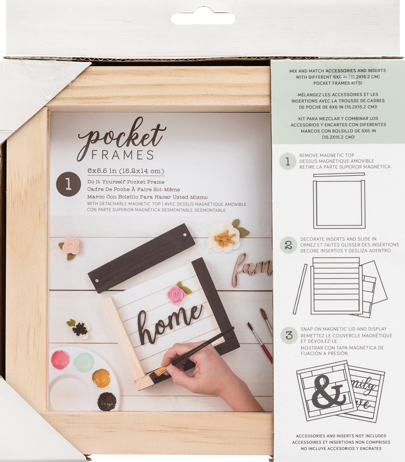American Crafts Pocket Frames 6X5.5-Do-It-Yourself