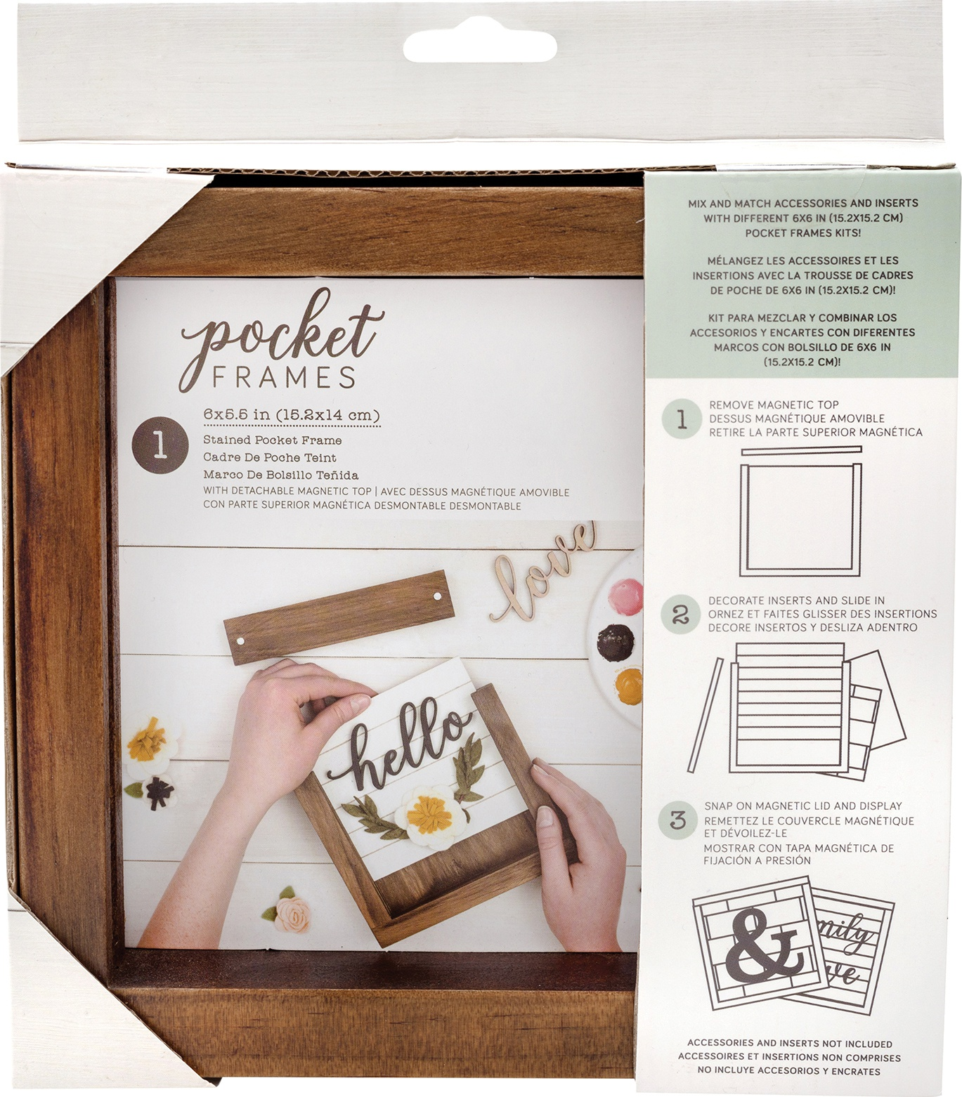 American Crafts Pocket Frames 6X5.5-Stained