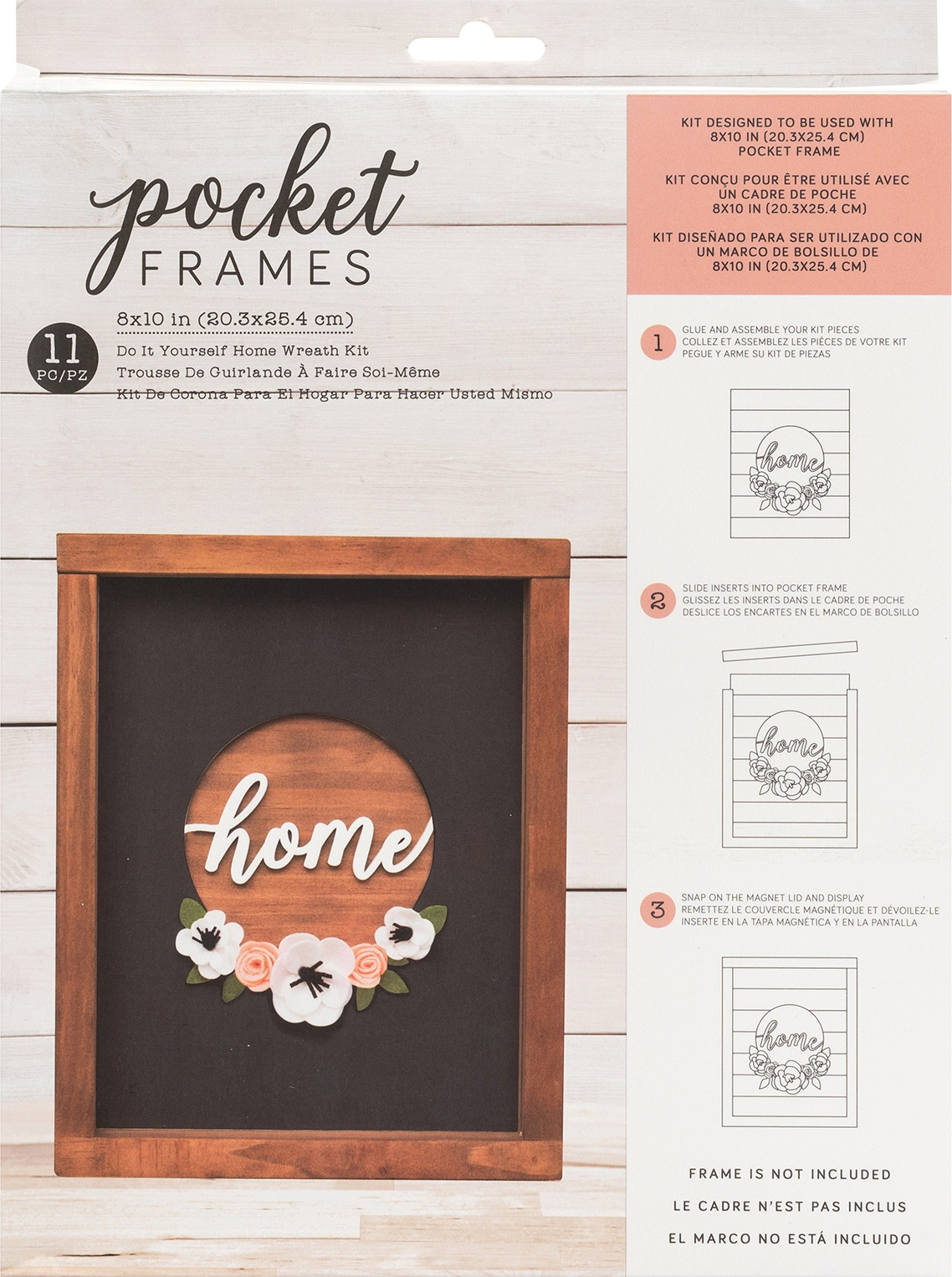 American Crafts Pocket Frames Insert Kit 8X10 11/Pkg-Home Wreath W/Insert