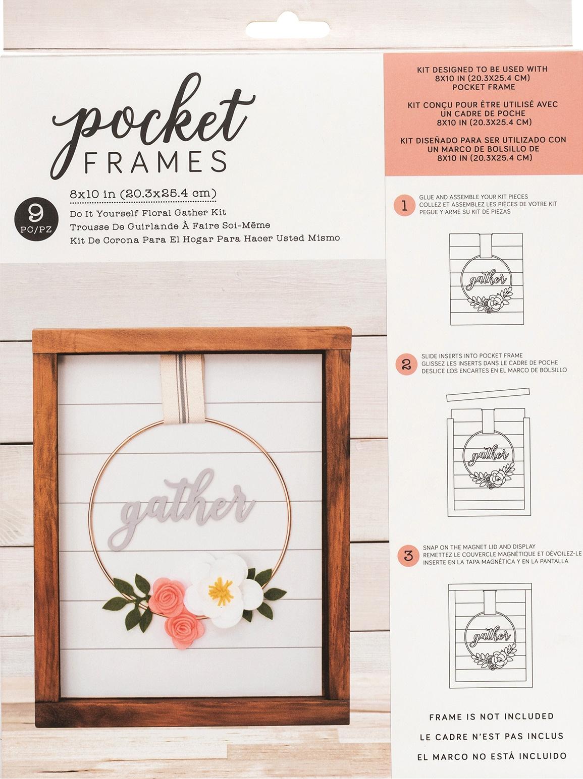 American Crafts Pocket Frames Insert Kit 8X10 9/Pkg-Gather Wreath W/Insert