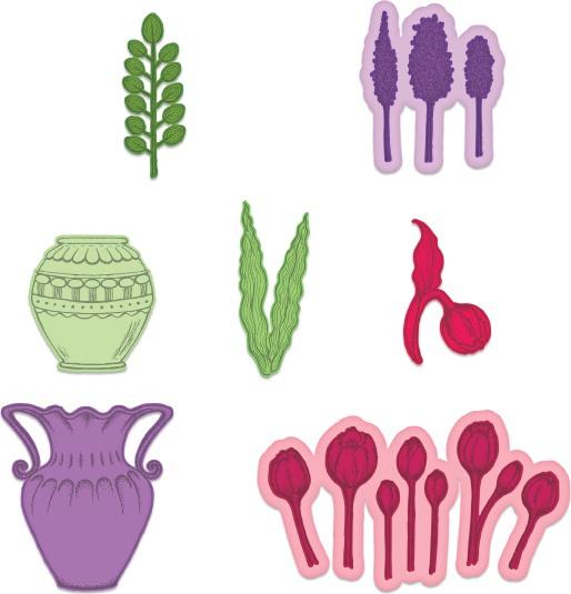 Tulip Vase & Fillers Die